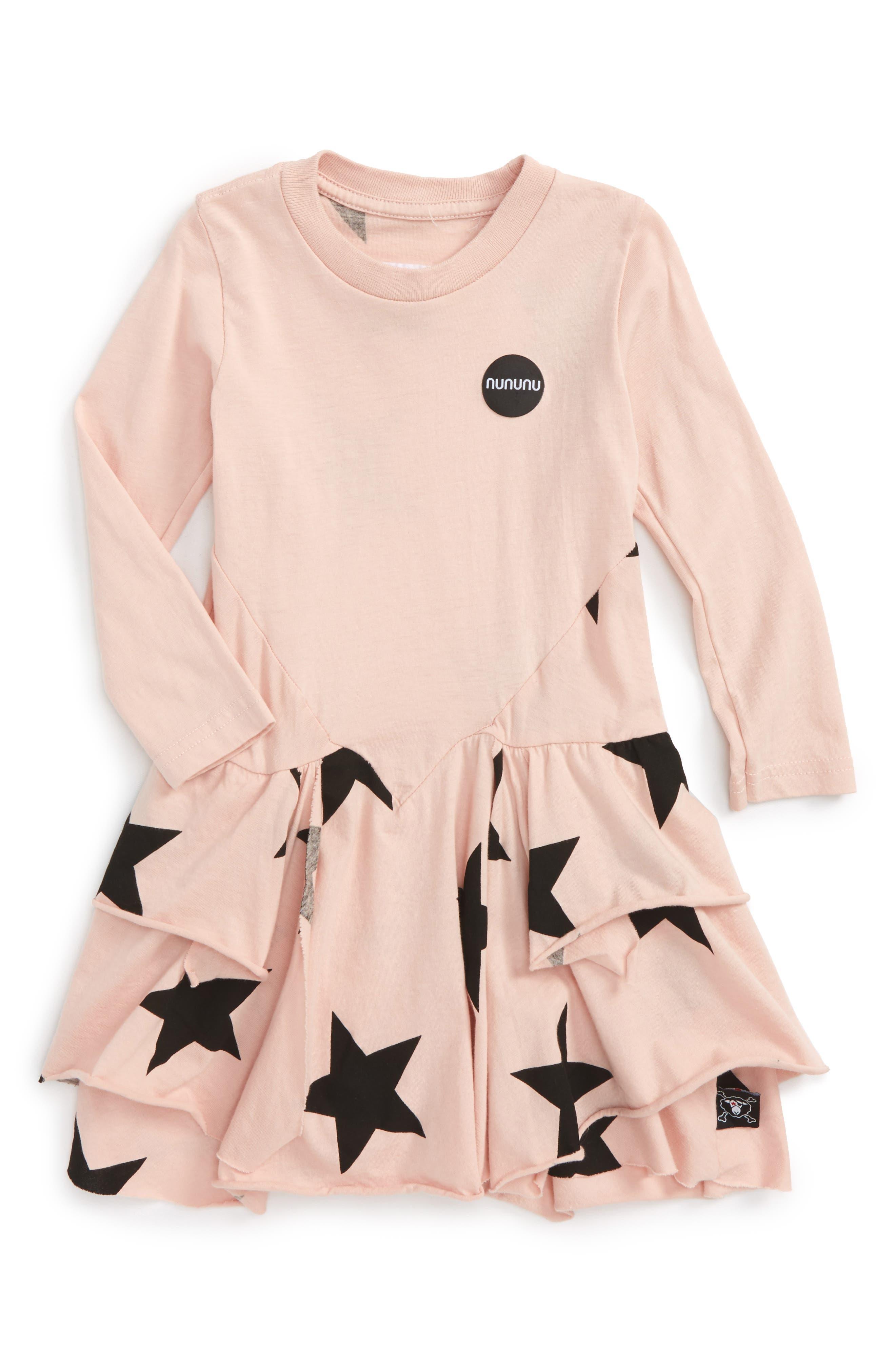 Layered Star Dress,                         Main,                         color, Powder Pink