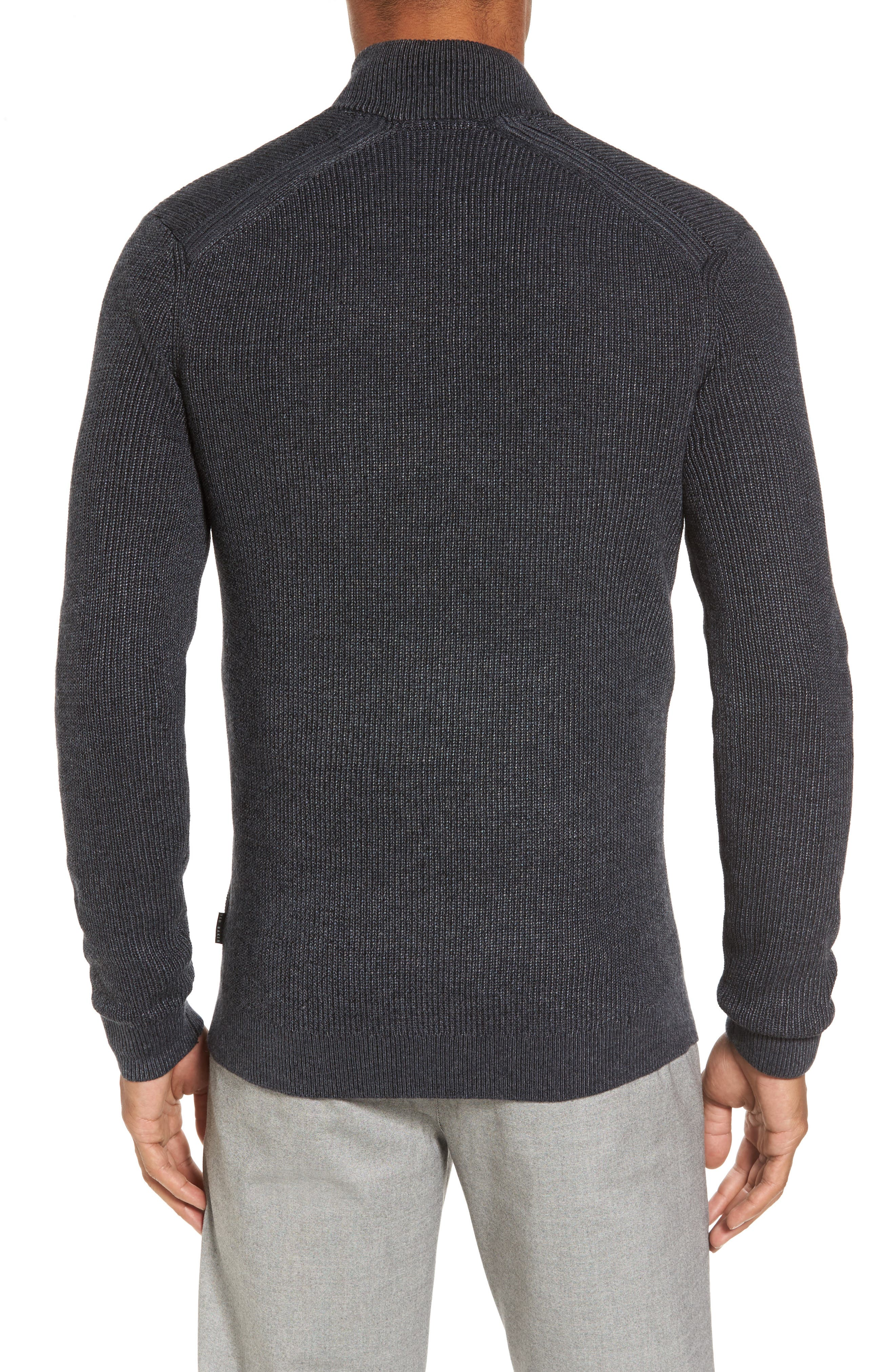 Alternate Image 2  - Ted Baker London Slim Fit Quarter Zip Sweater (Tall)