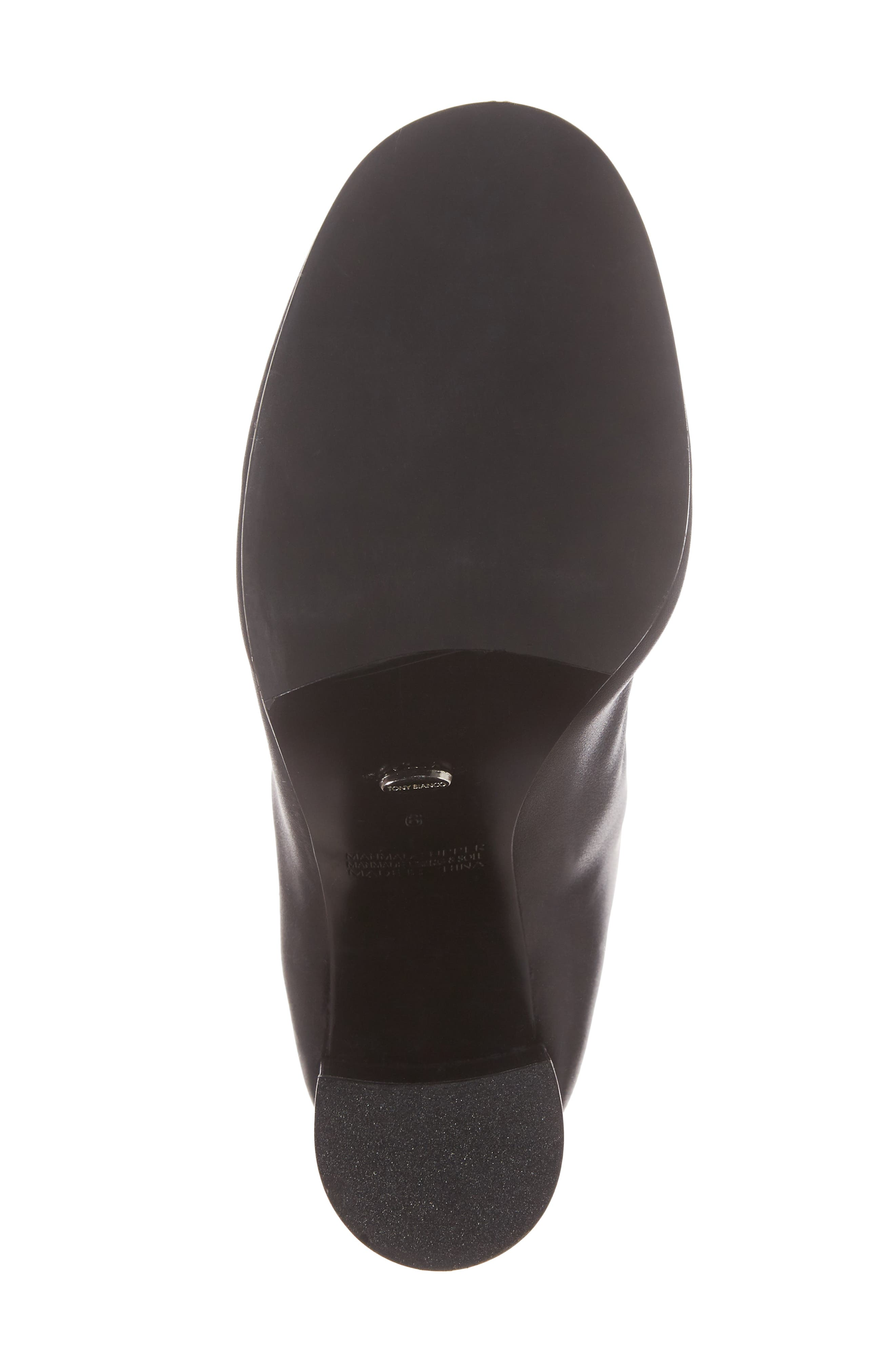 Nyx Stretch Bootie,                             Alternate thumbnail 6, color,                             Black Nappa Leather