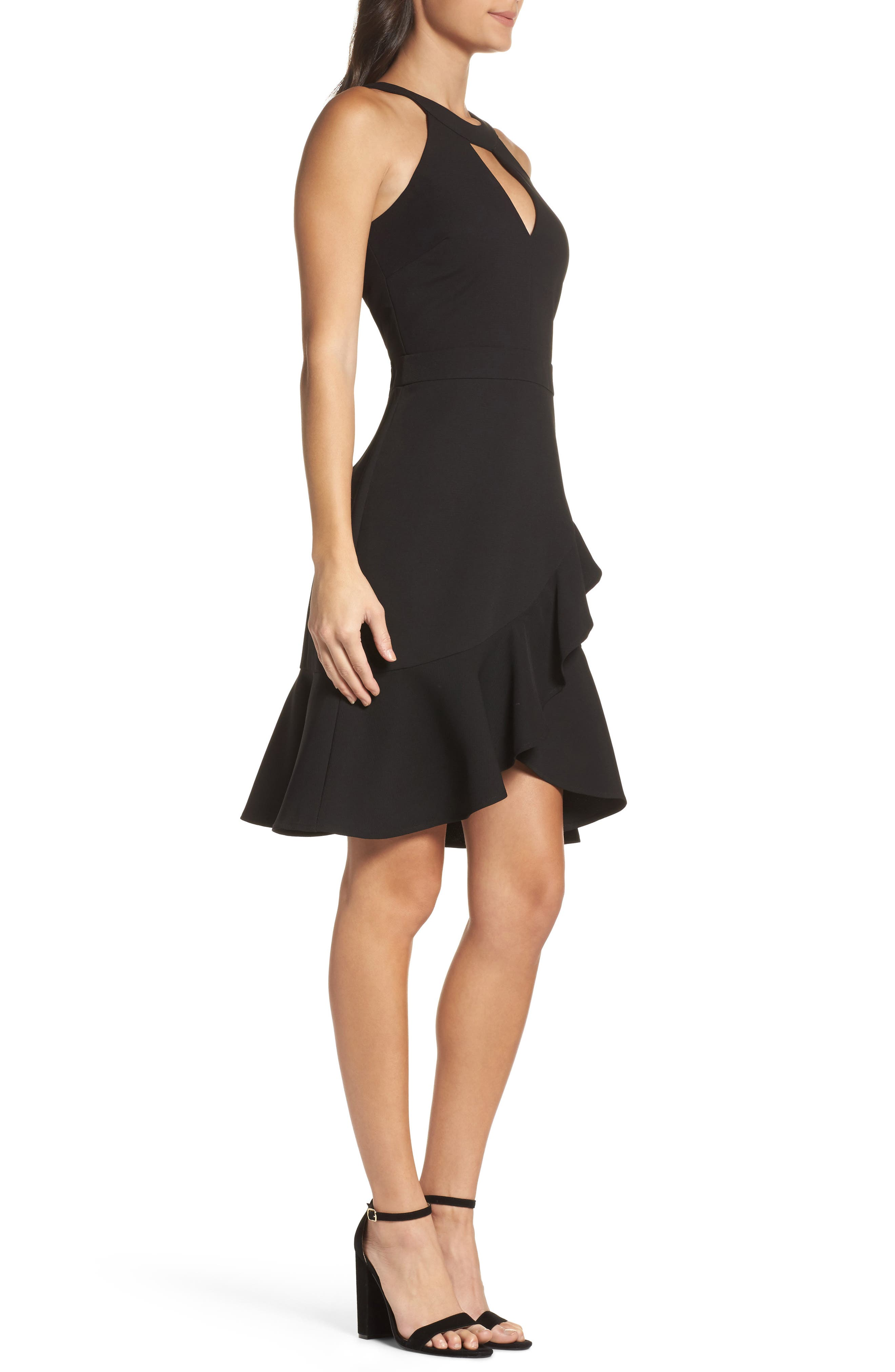 Alternate Image 3  - Adelyn Rae Kasi Ruffle Fit & Flare Dress