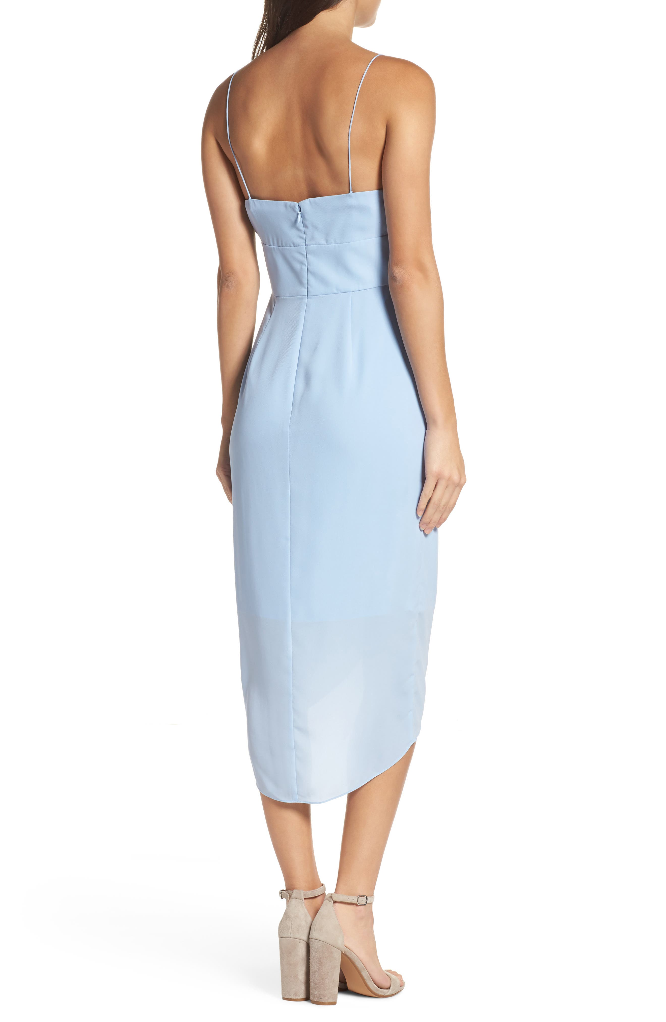 Lily Drape Sheath Dress,                             Alternate thumbnail 2, color,                             Pale Blue