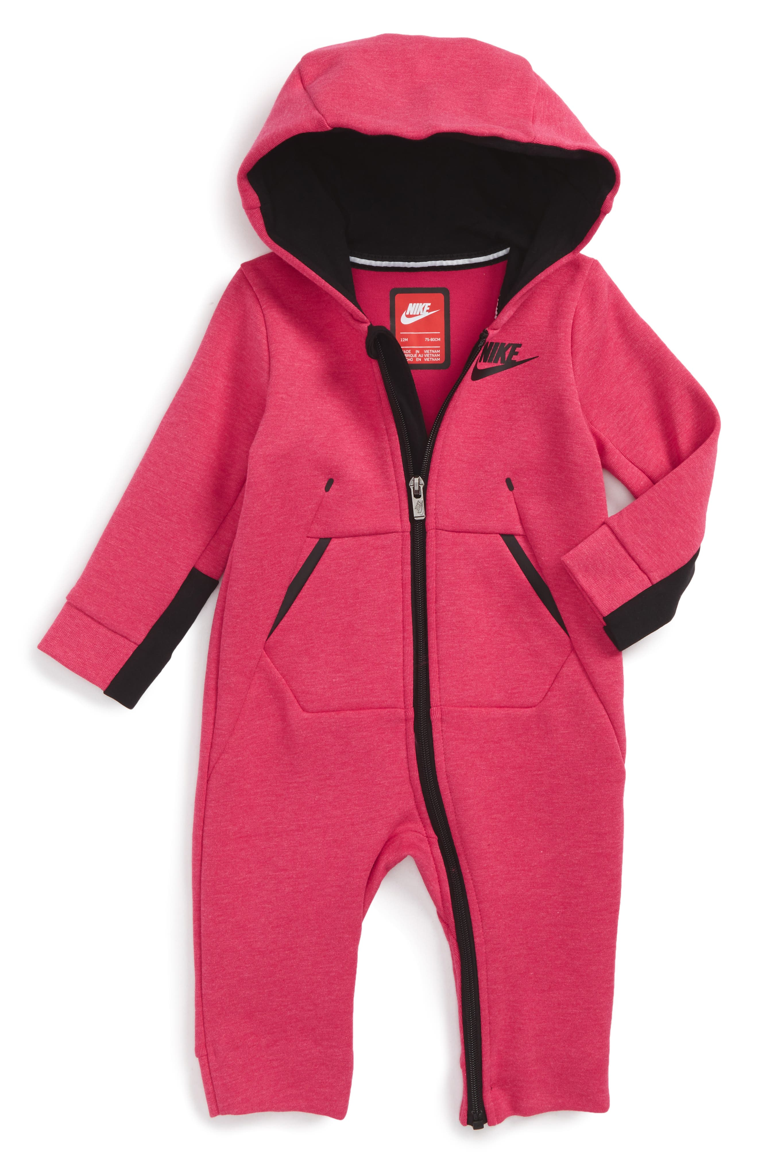 Nike Tech Fleece Romper (Baby Girls)