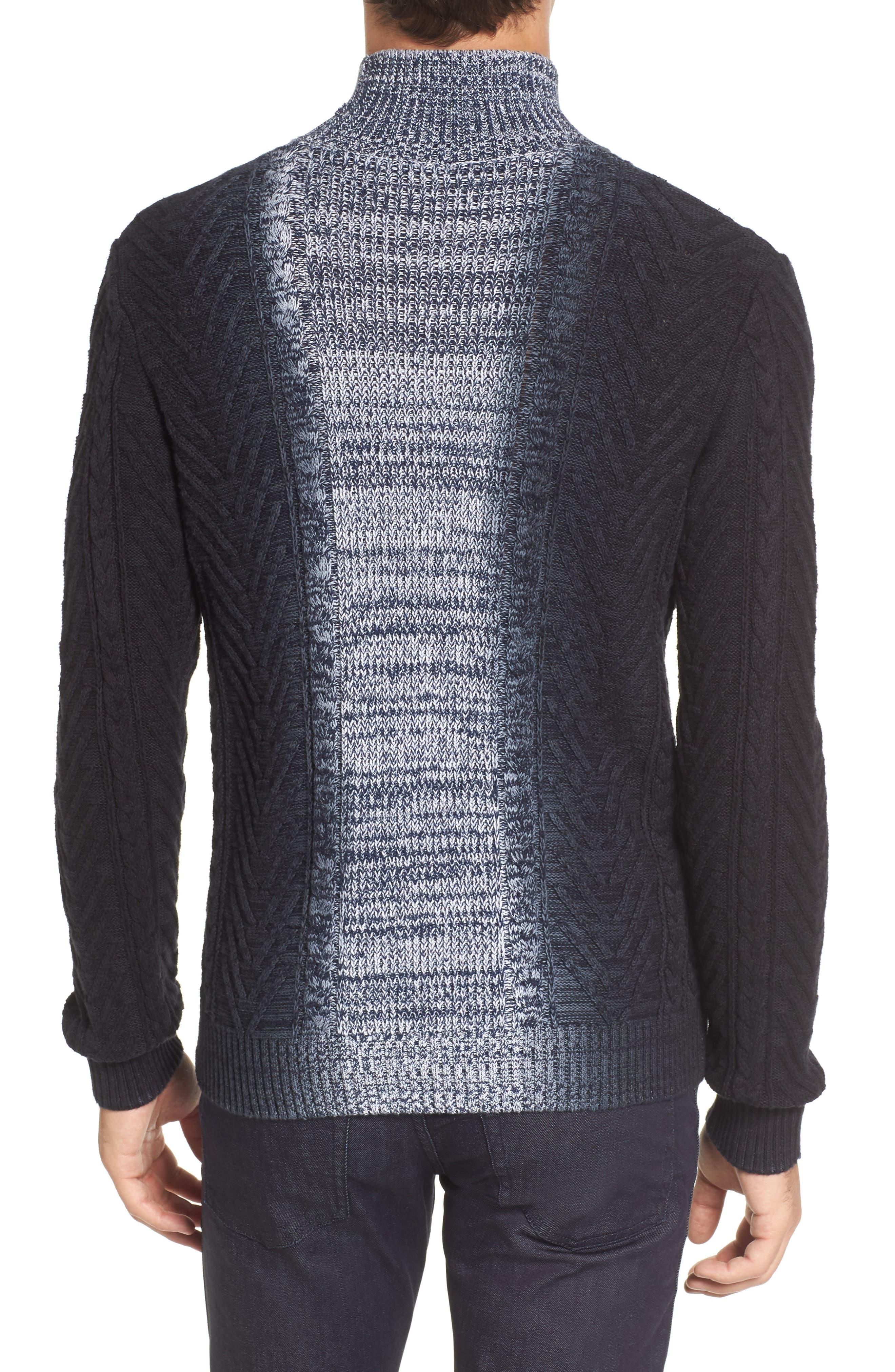 Alternate Image 2  - Vince Camuto Gradient Fade Turtleneck Sweater