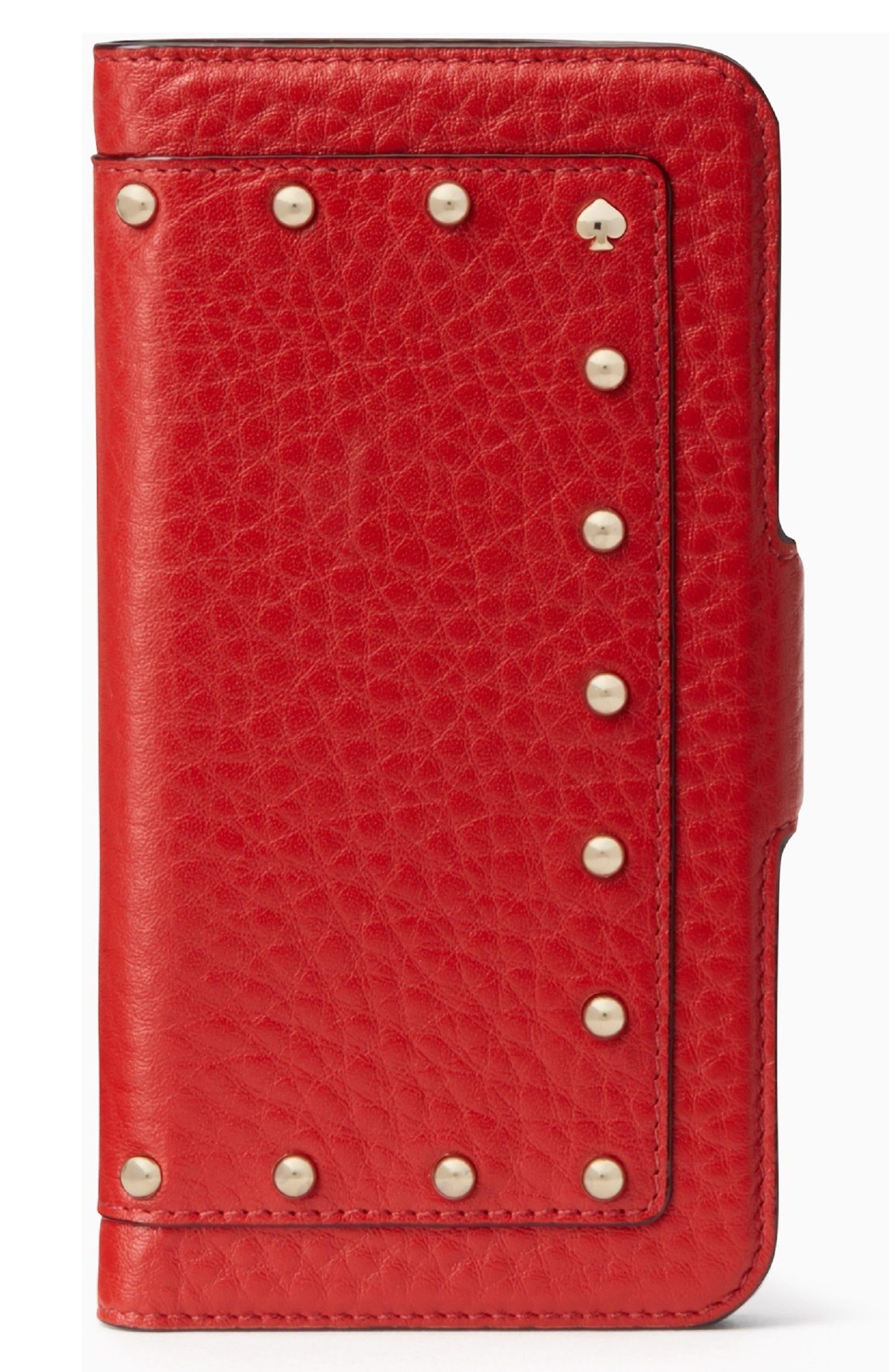 embellished iPhone 7/8 & 7/8 Plus case,                         Main,                         color, Red Carpet