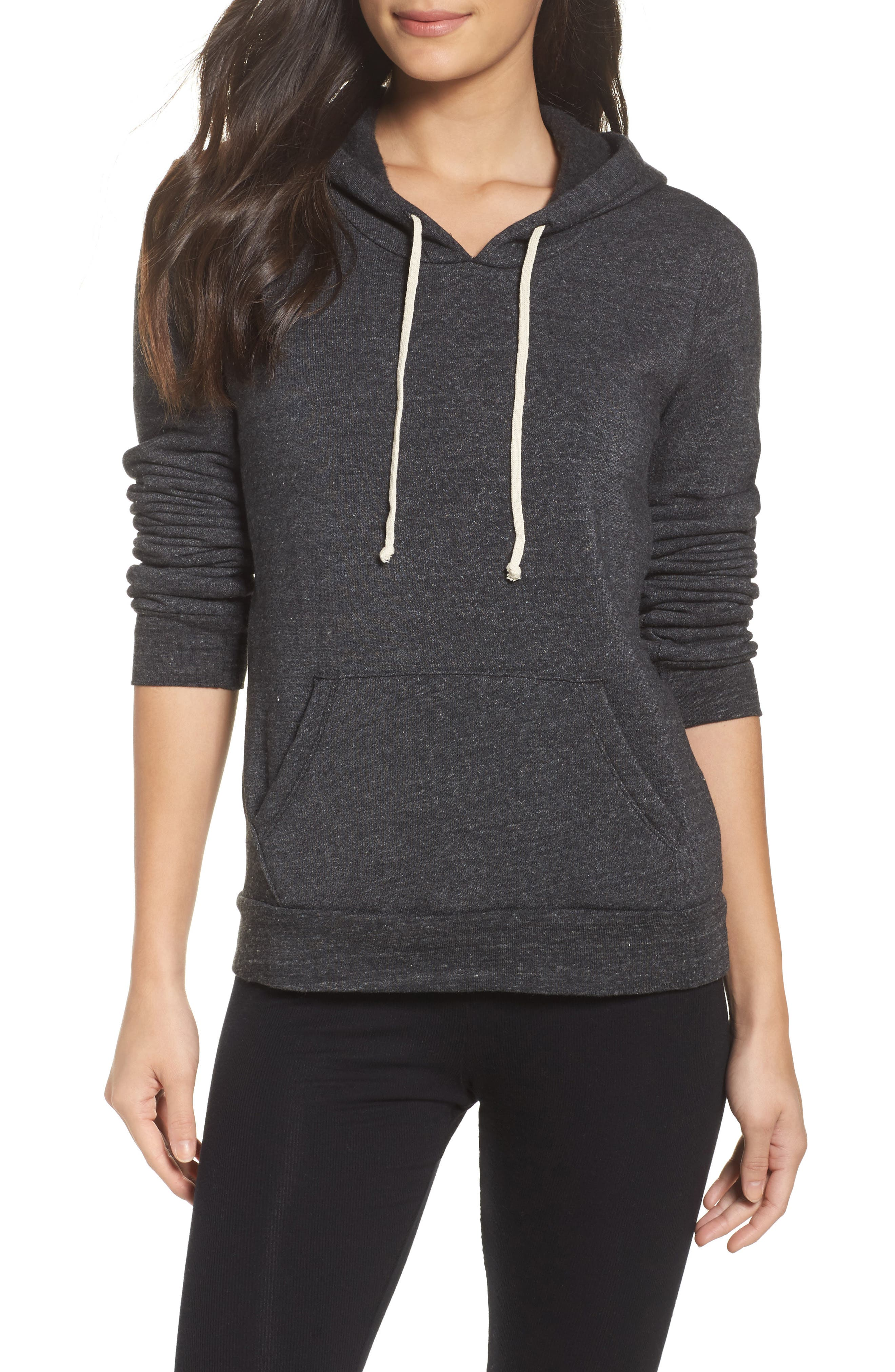 Athletics Pullover Hoodie,                             Main thumbnail 1, color,                             Eco Black