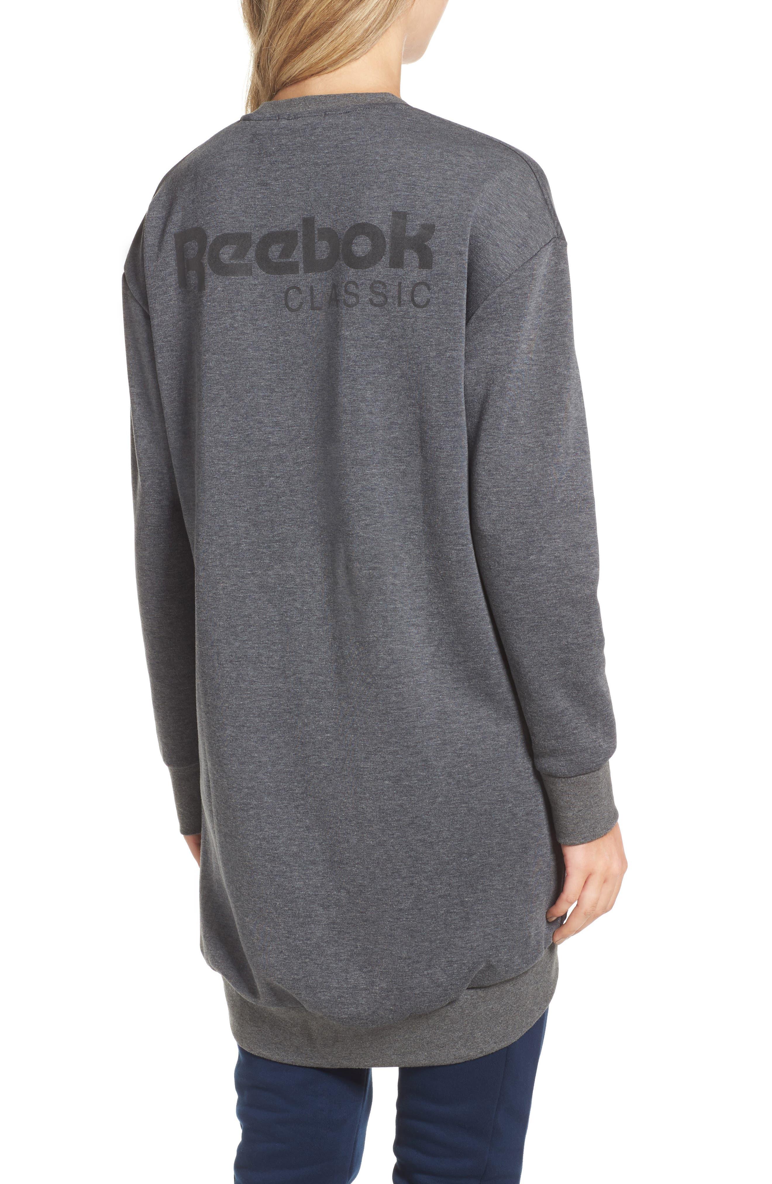 Oversize Sweatshirt,                             Alternate thumbnail 2, color,                             Dark Grey Heather