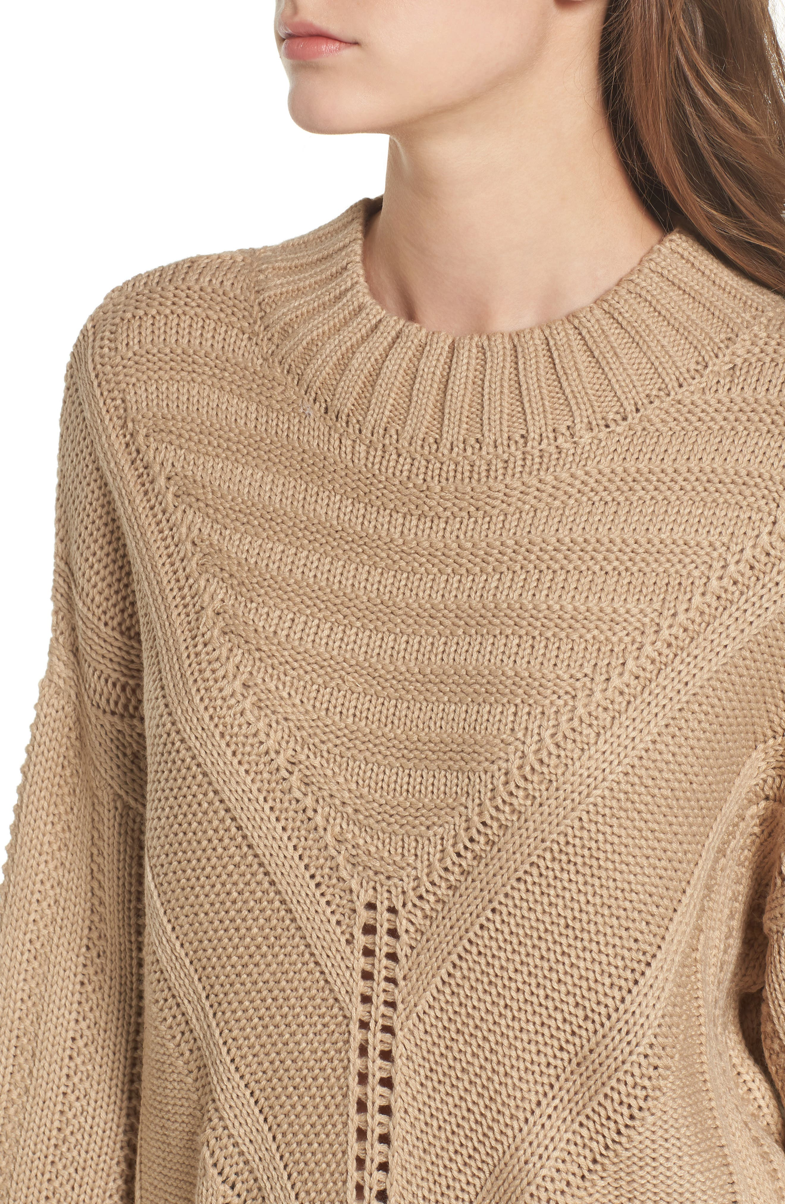 Alternate Image 5  - Moon River Oversize Drop Shoulder Sweater