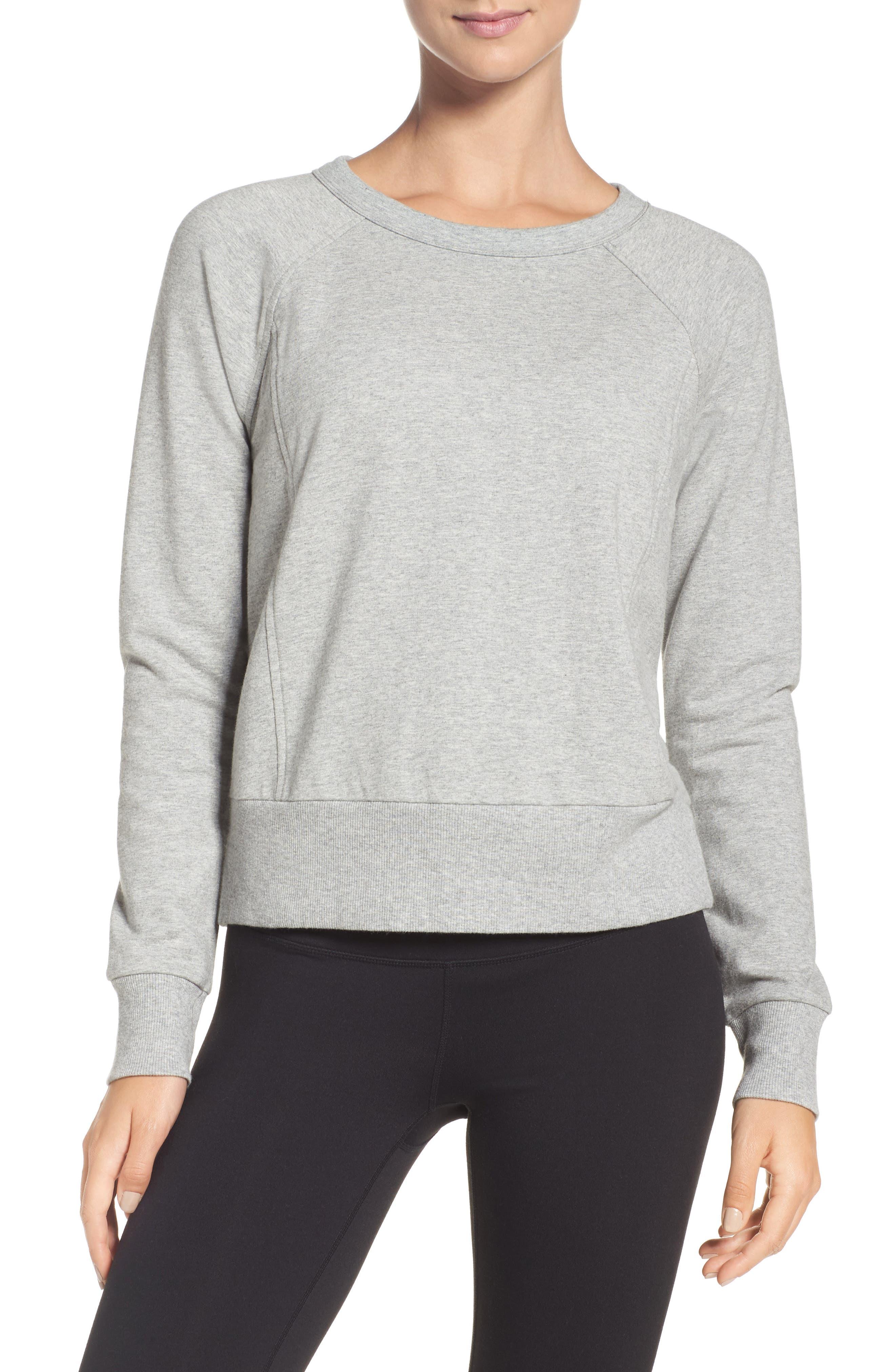 Alternate Image 2  - Zella Covet Crisscross Sweatshirt