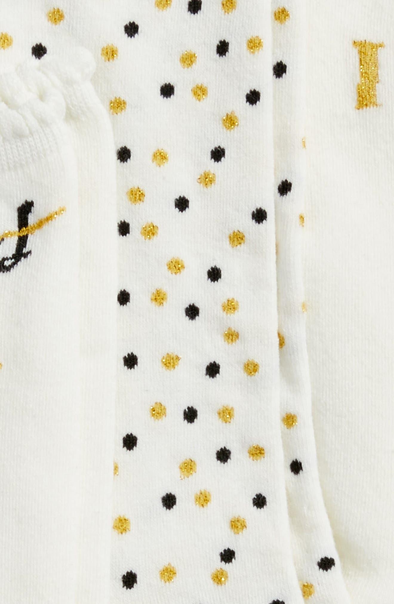 i do - bride 3-pack crew socks,                             Alternate thumbnail 3, color,                             Cream