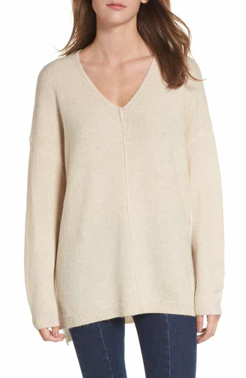 Women's Off-White Tunic Length Sweaters | Nordstrom