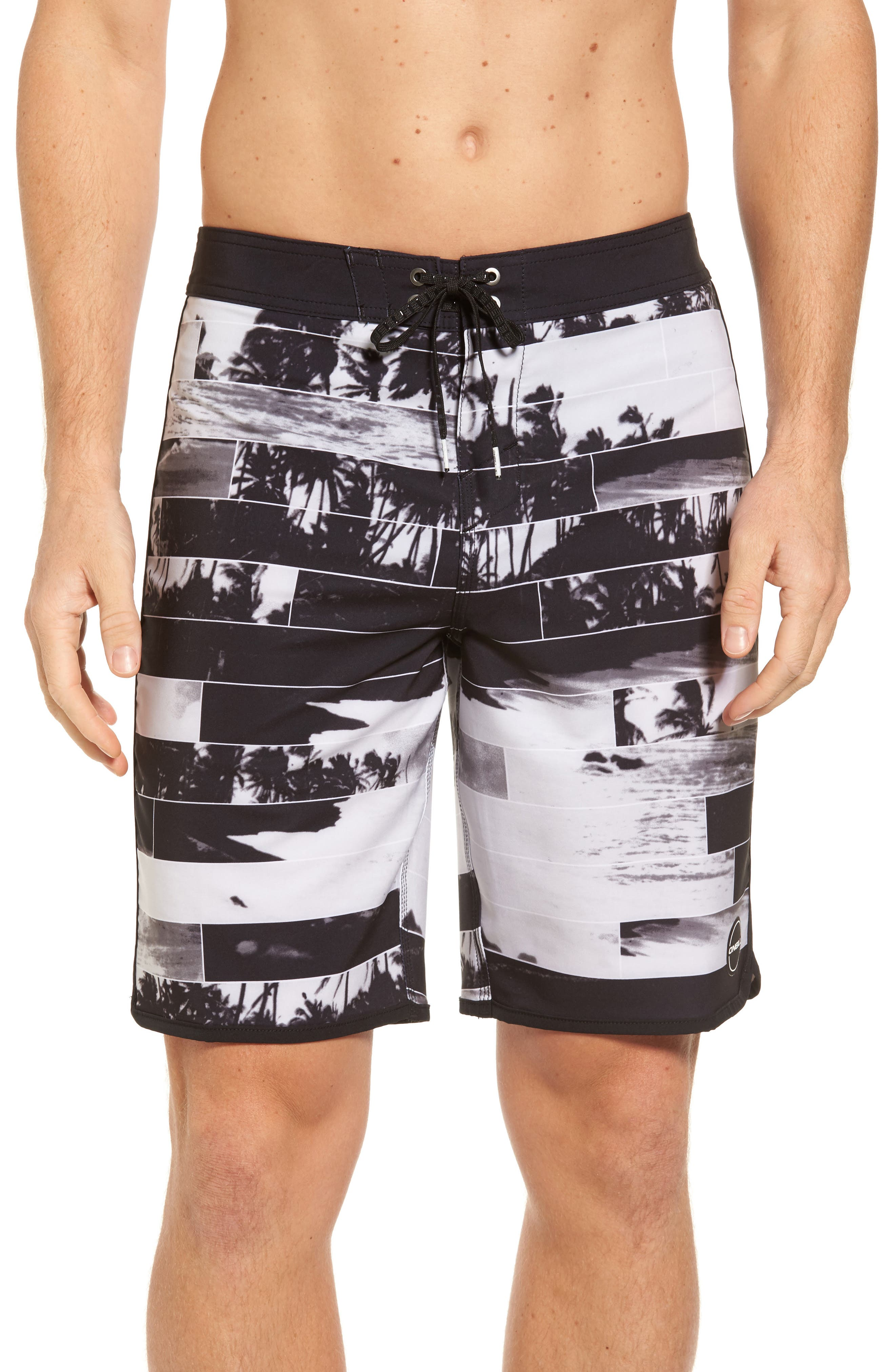 Hyperfreak Castaway Board Shorts,                         Main,                         color, Black