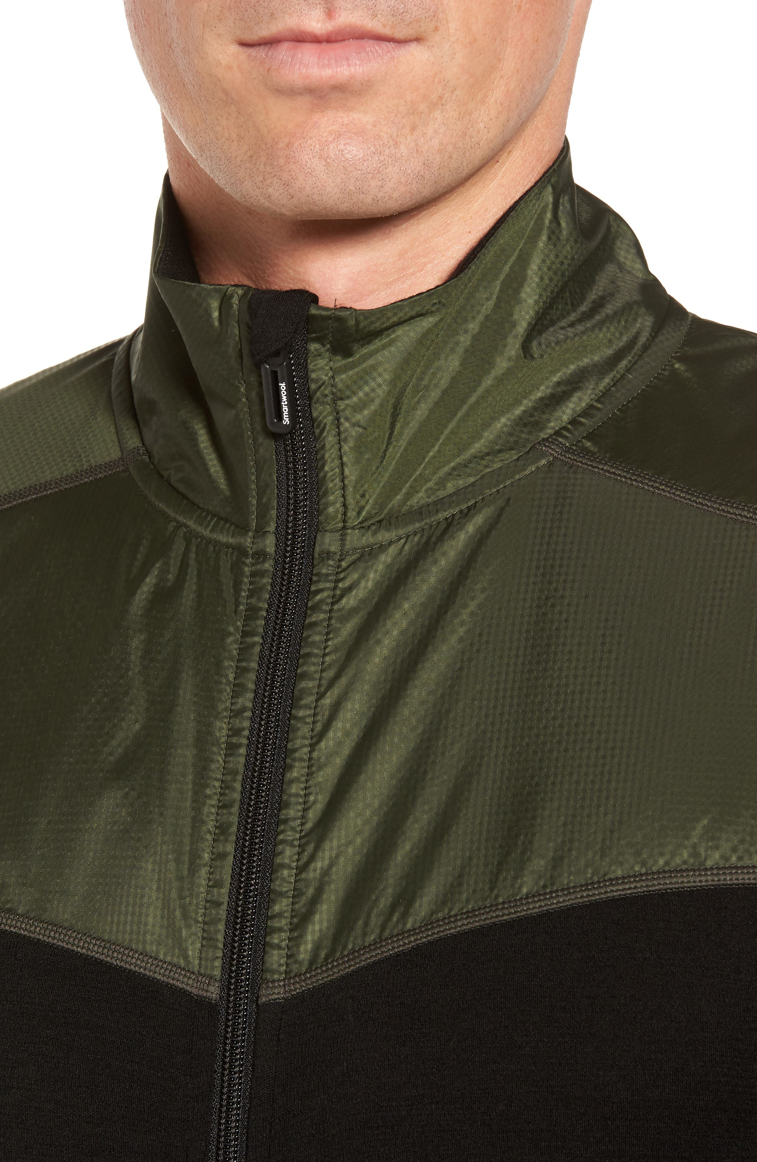250 Sport Merino Wool Zip Jacket,                             Alternate thumbnail 4, color,                             Olive