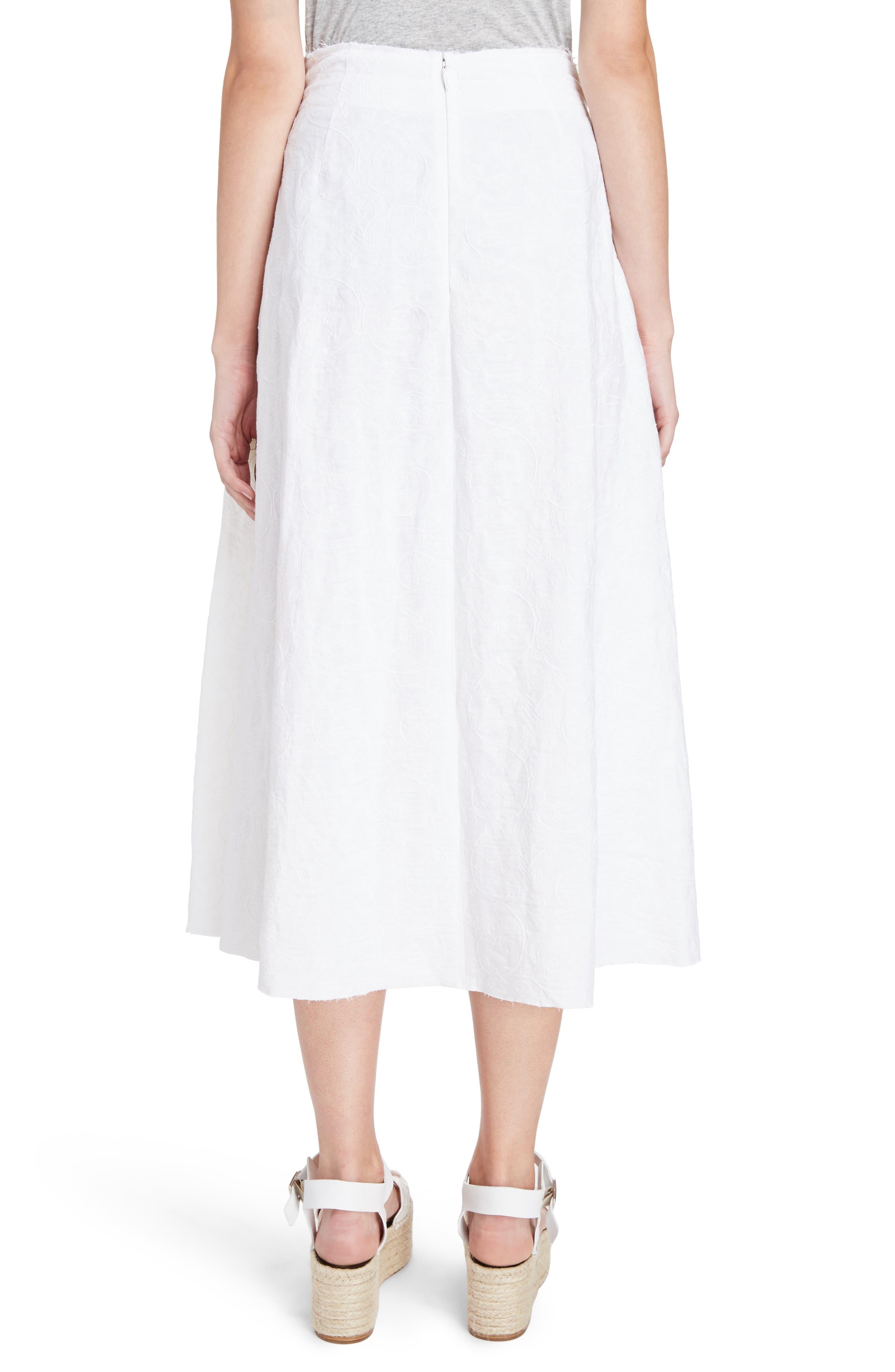 Alternate Image 2  - Loewe Drawstring Waist Broderie Anglaise Skirt