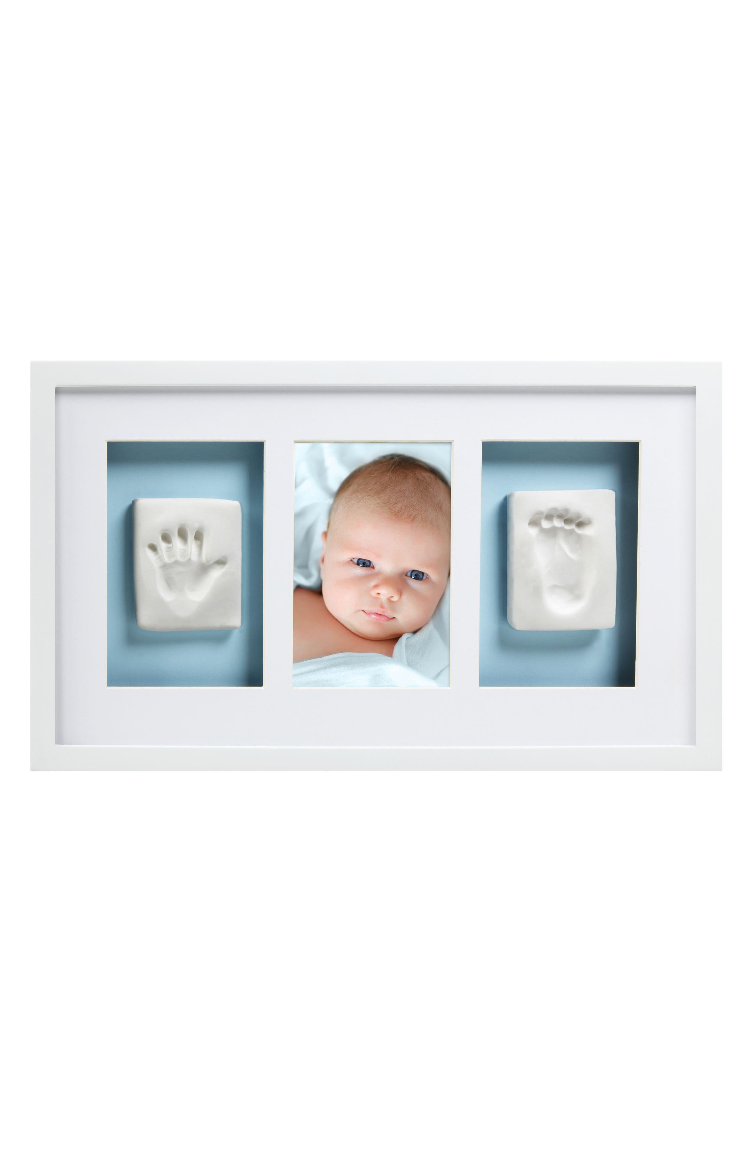 Babyprints Deluxe Wall Frame Kit,                             Alternate thumbnail 3, color,                             White