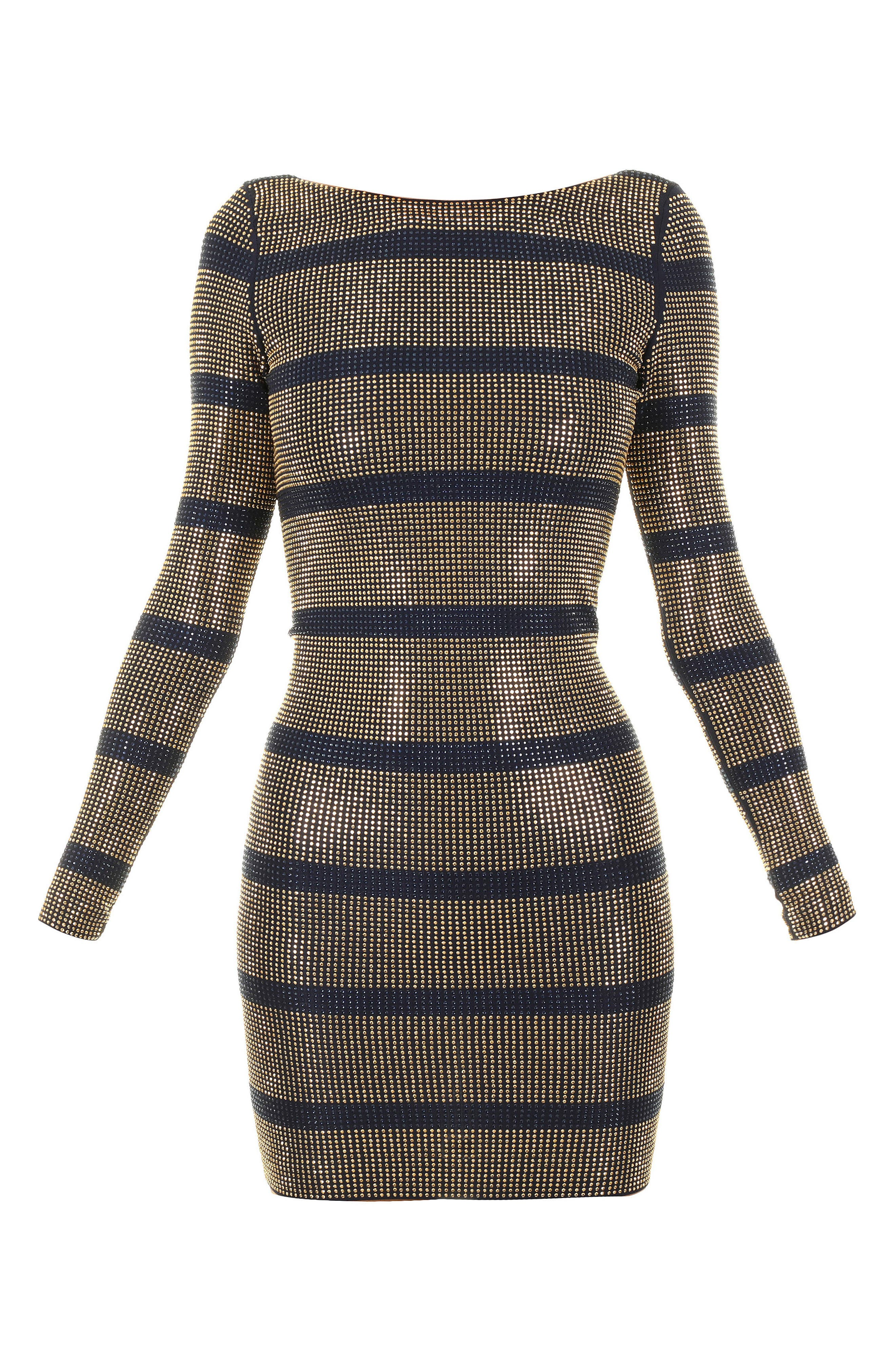 Alternate Image 6  - Balmain Embellished Stripe Minidress