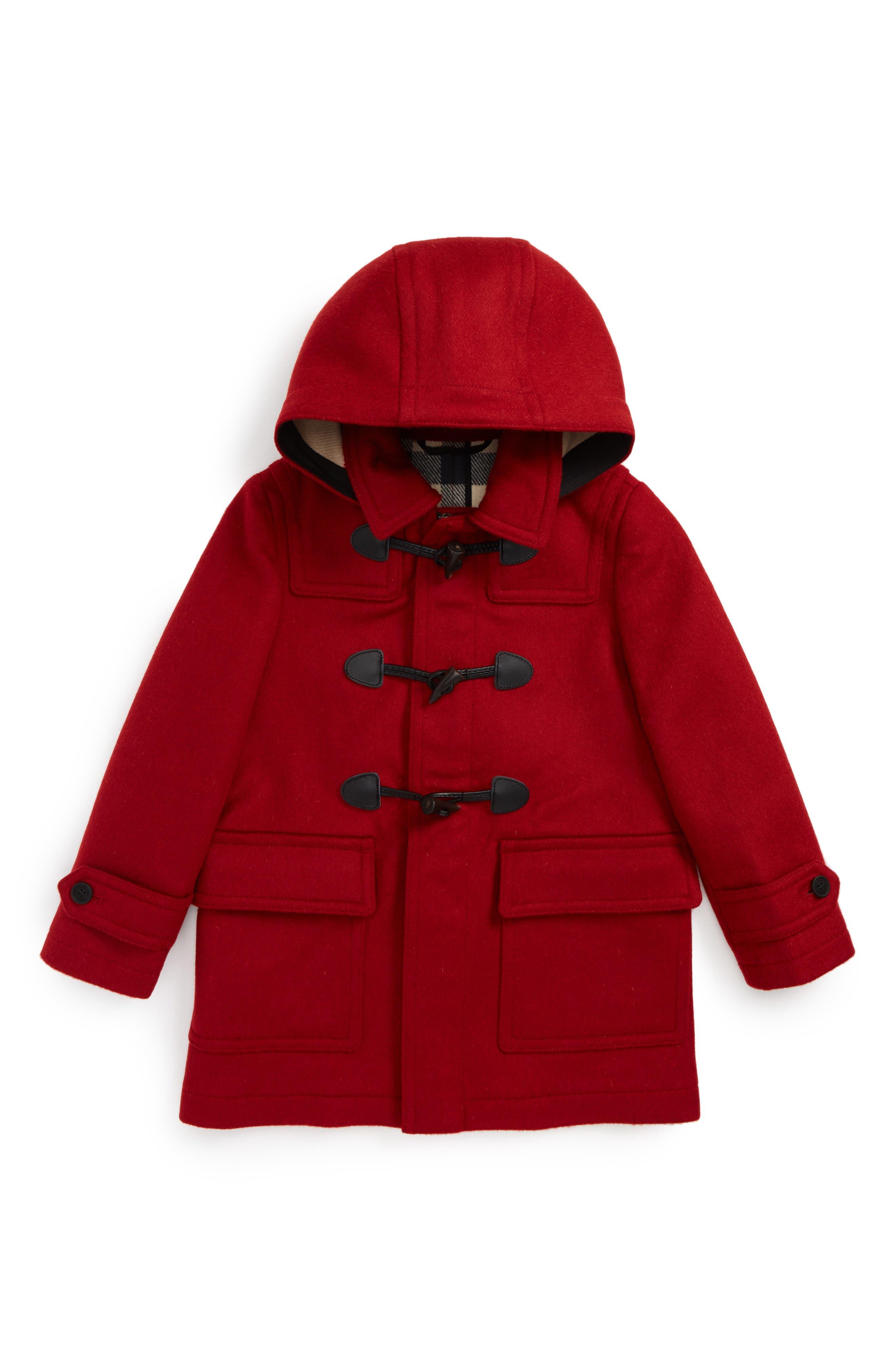 Main Image - Burberry Burwood Wool Toggle Coat (Little Boys & Big Boys)