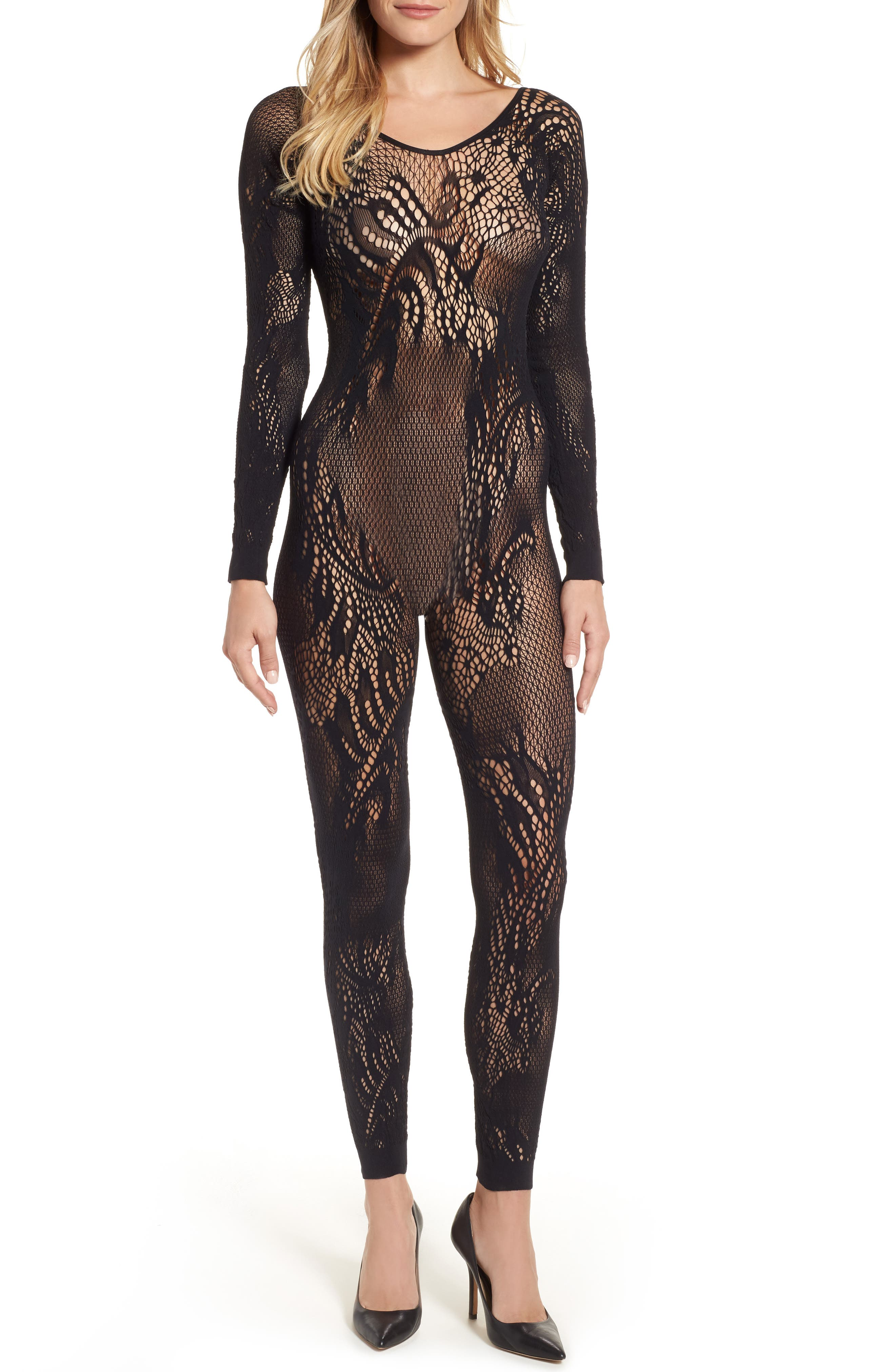 Natori Feathers Long Sleeve Catsuit