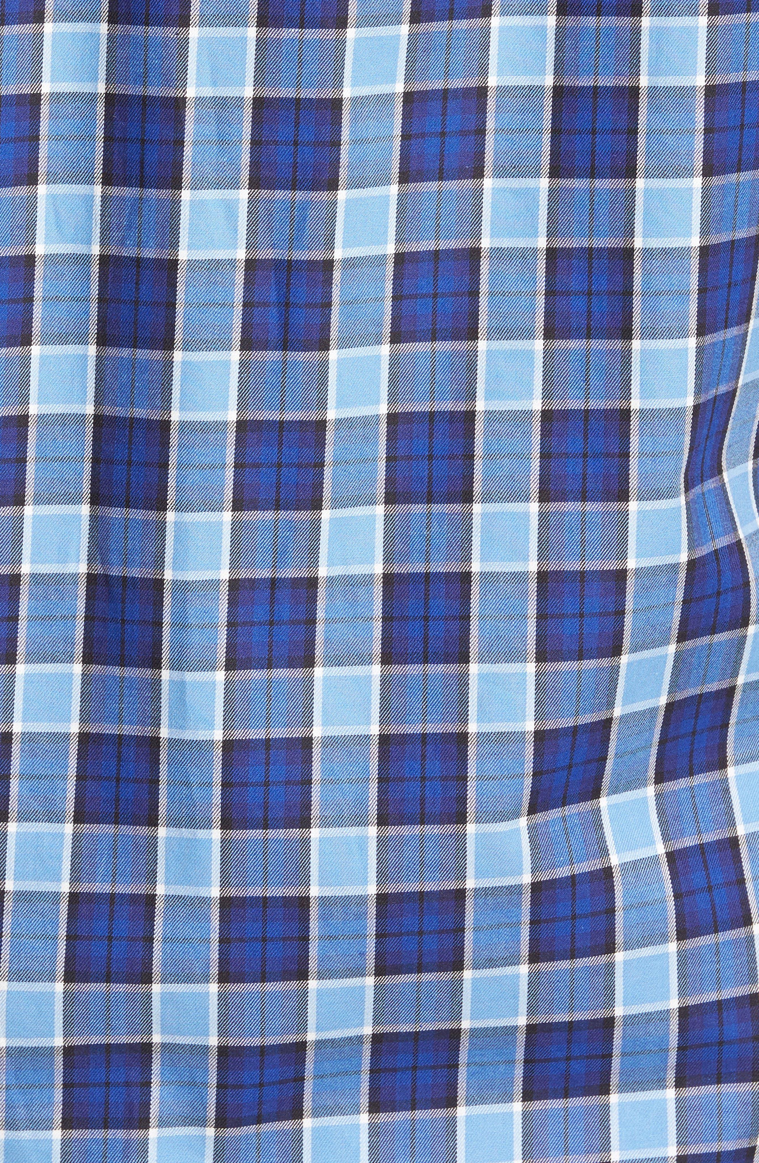 Alternate Image 5  - TailorByrd Brownsville Windowpane Check Twill Sport Shirt