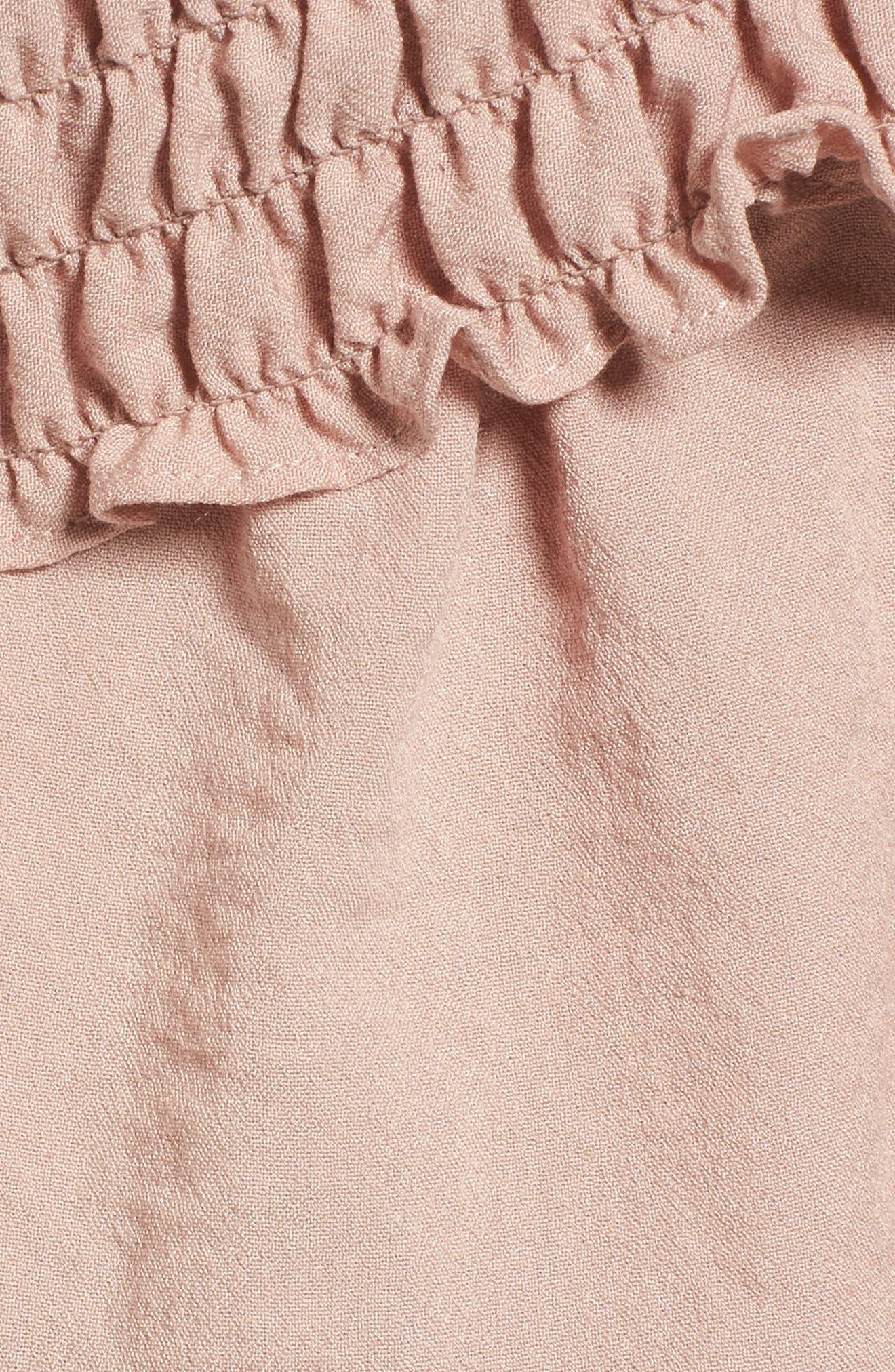 Delany Off the Shoulder Crop Top,                             Alternate thumbnail 5, color,                             Primrose Pink