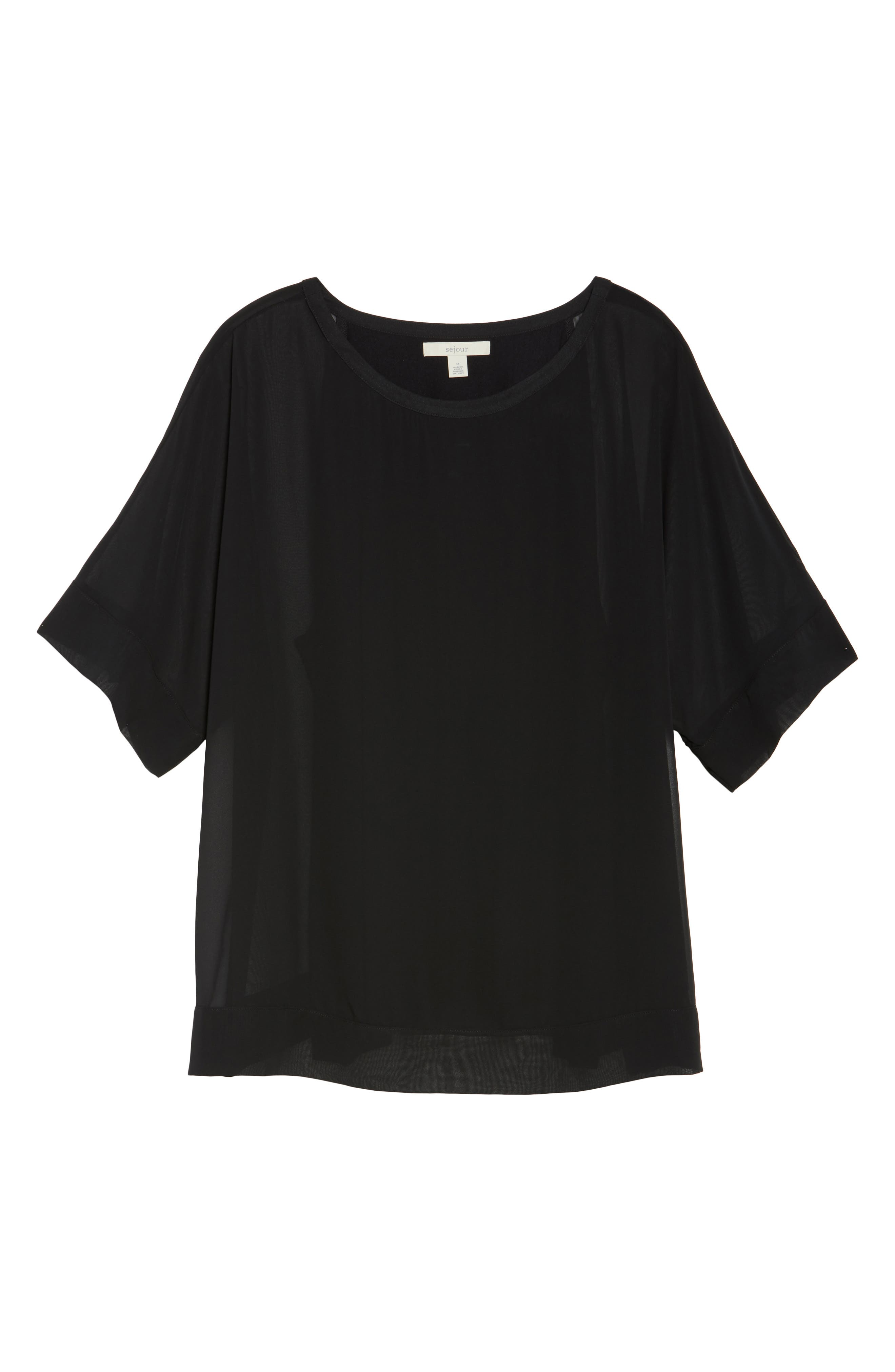 Alternate Image 6  - Sejour Kimono Layered Top (Plus Size)
