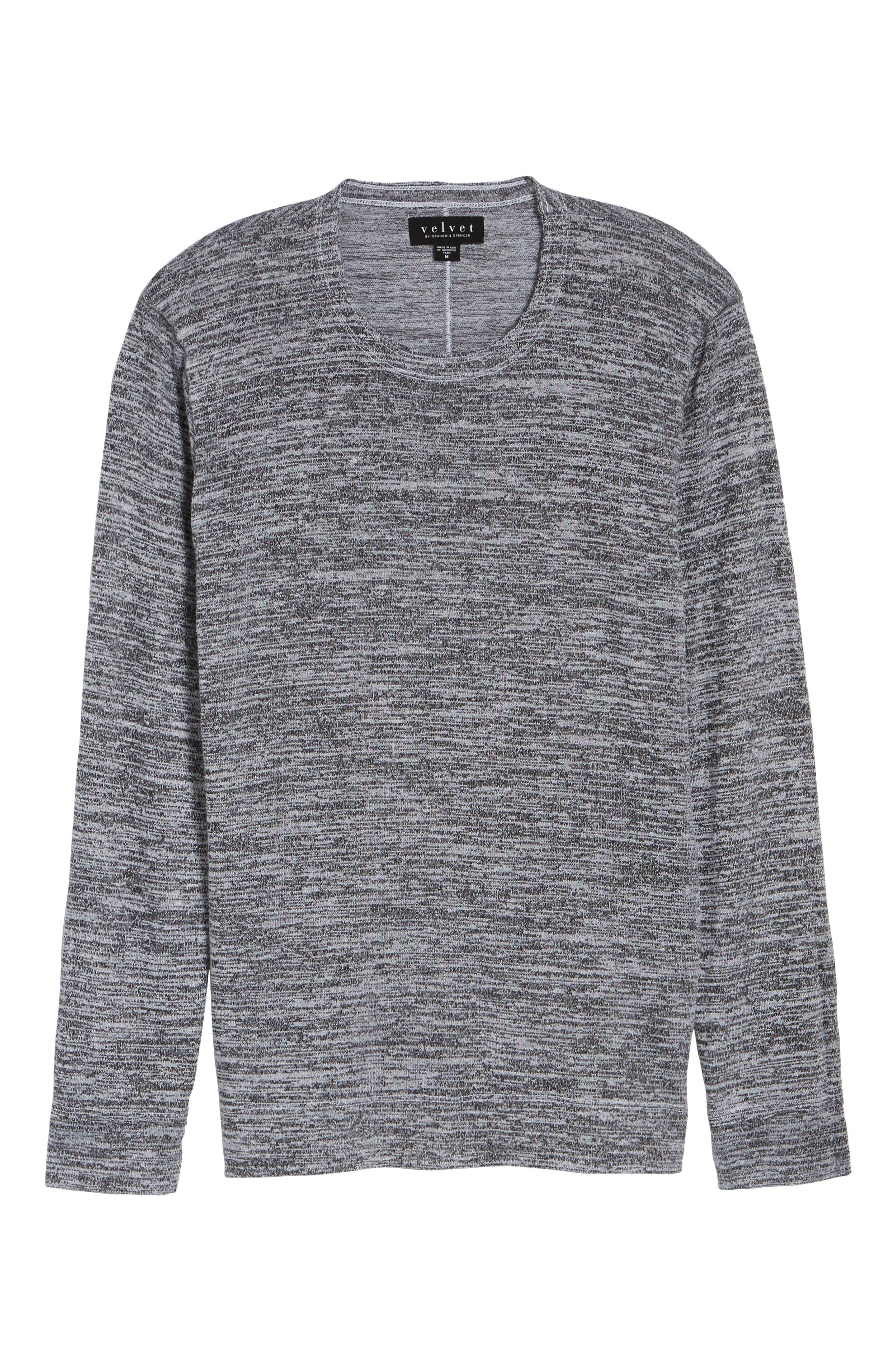 Alternate Image 5  - Velvet by Graham & Spencer Modern Trim Marled Long Sleeve T-Shirt