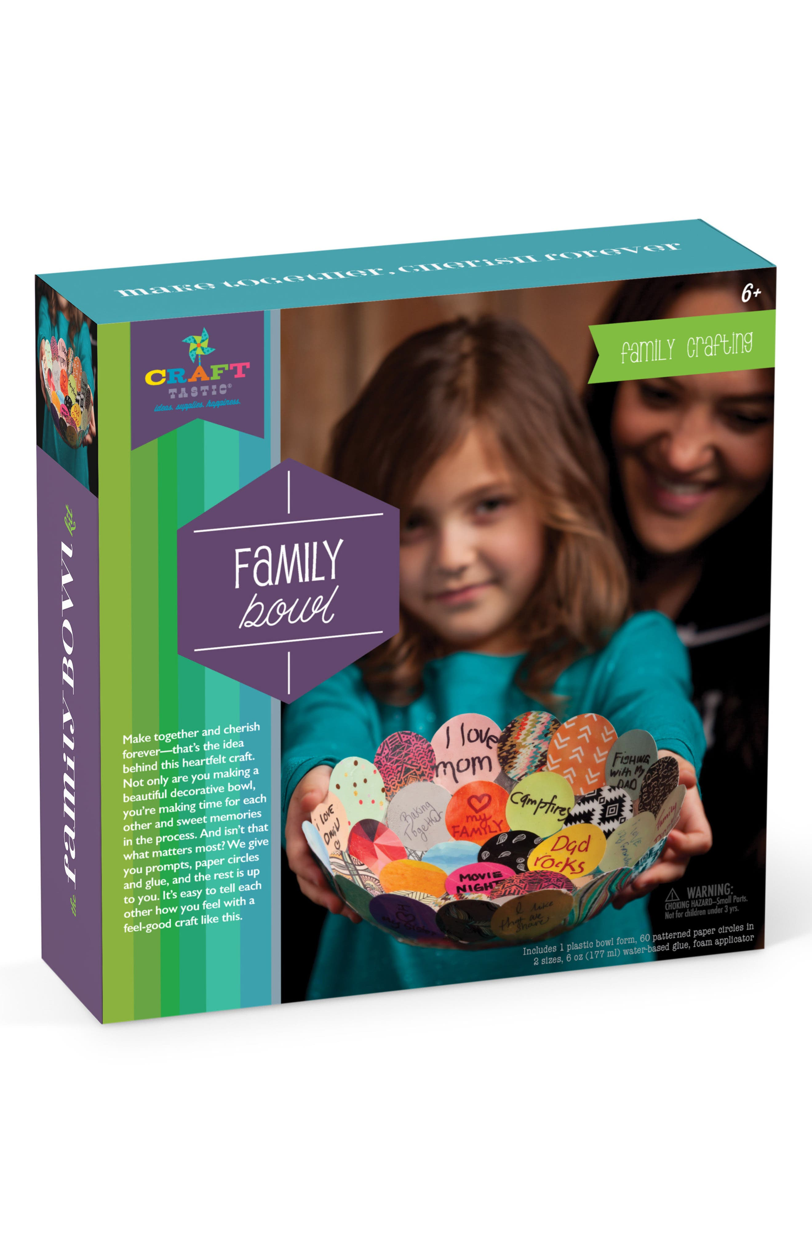 Make Together Family Bowl Kit,                         Main,                         color, Purple