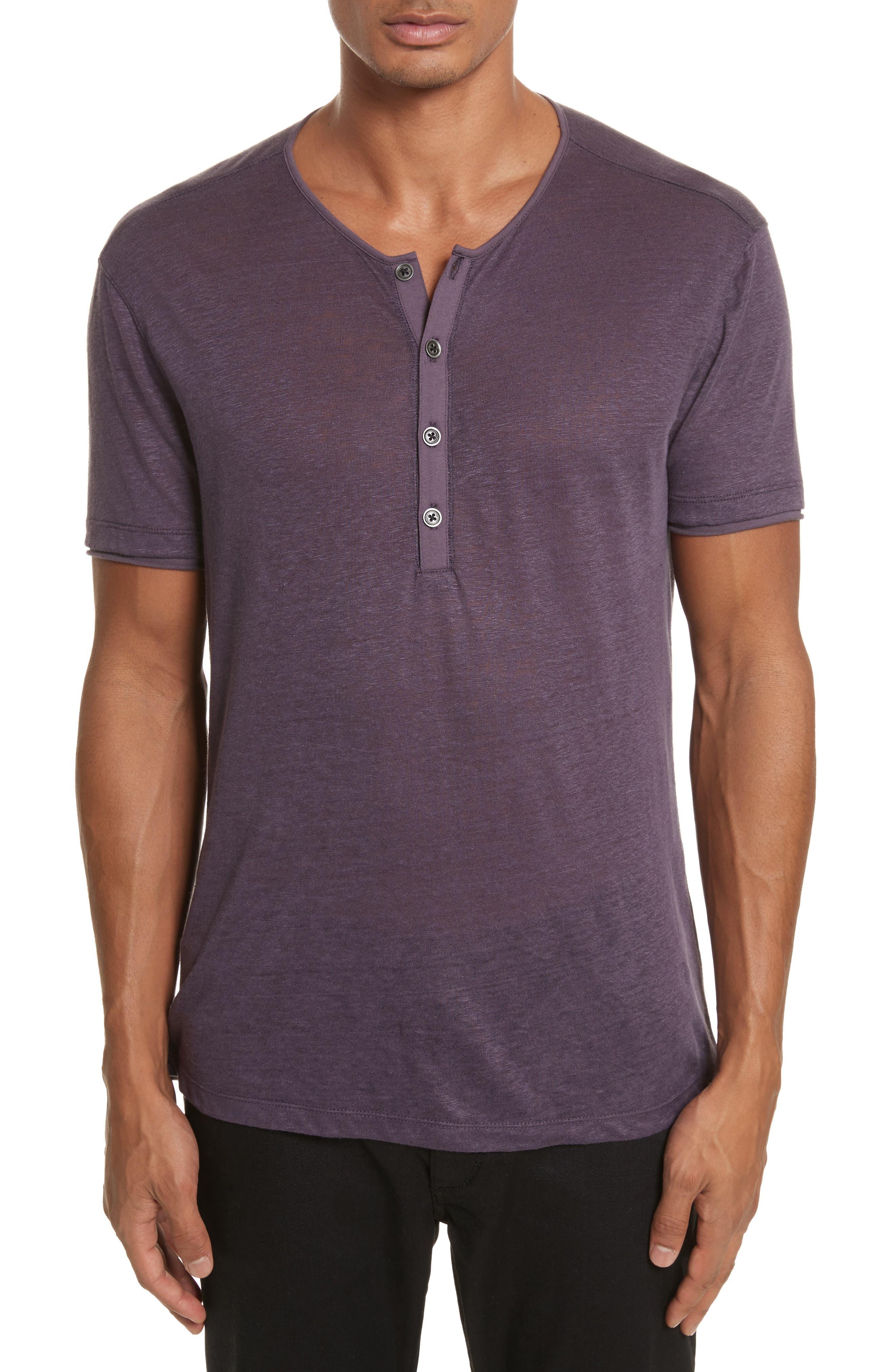 Alternate Image 1 Selected - John Varvatos Collection Linen Henley T-Shirt