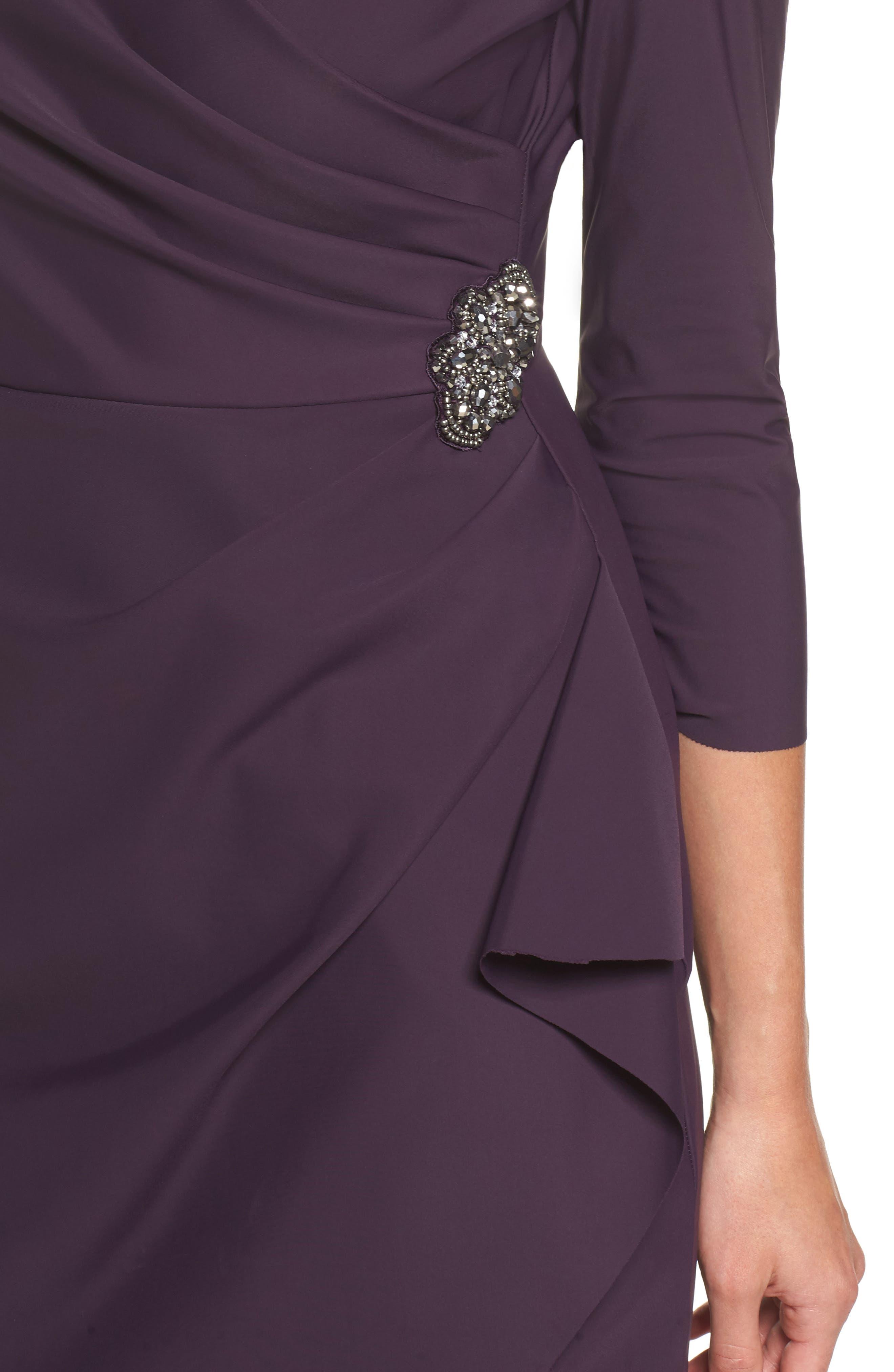 Alternate Image 4  - Alex Evenings Embellished Ruched Sheath Dress (Regular & Petite)