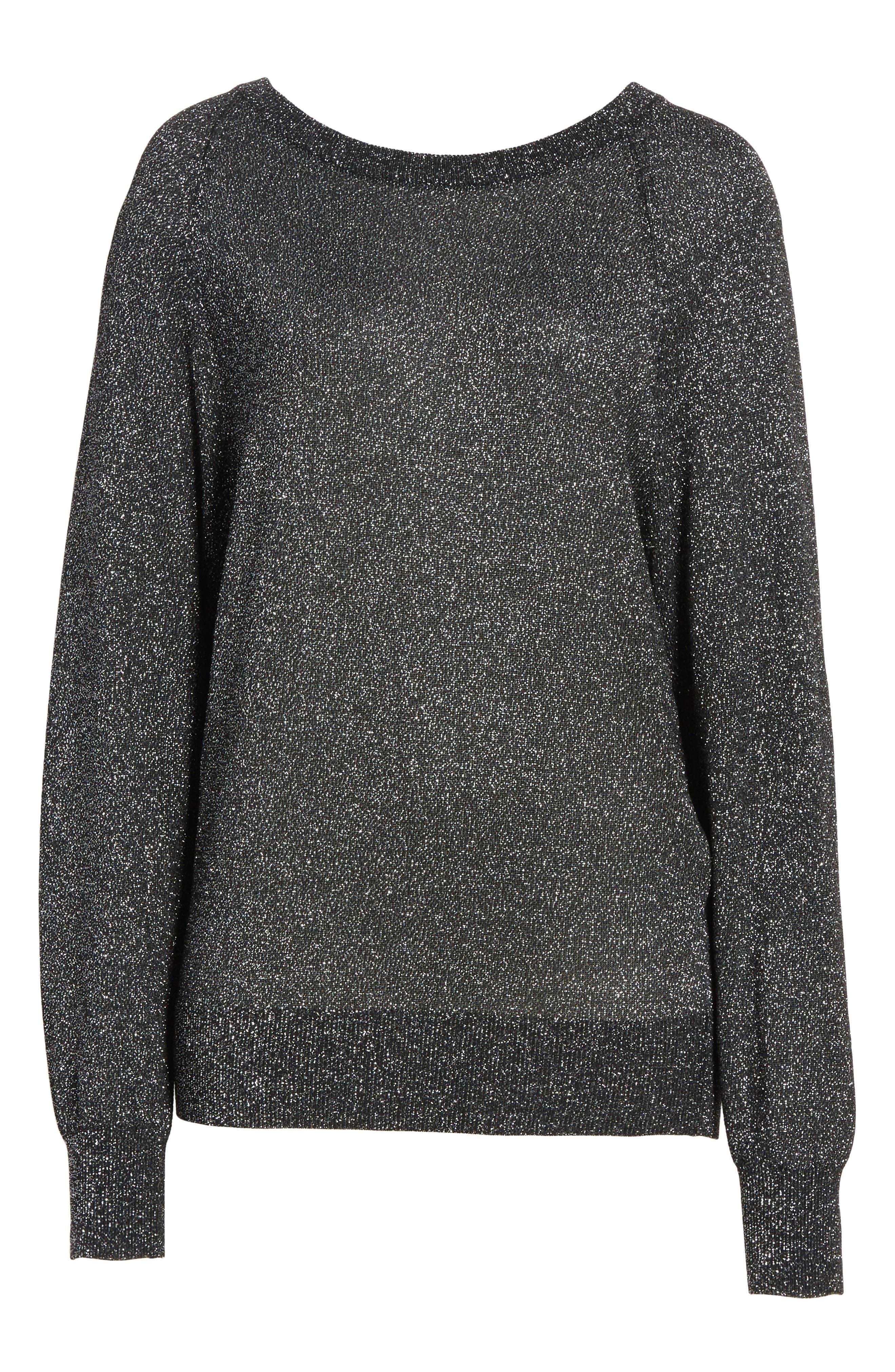 Alternate Image 6  - Michael Kors Metallic Knit Raglan Pullover