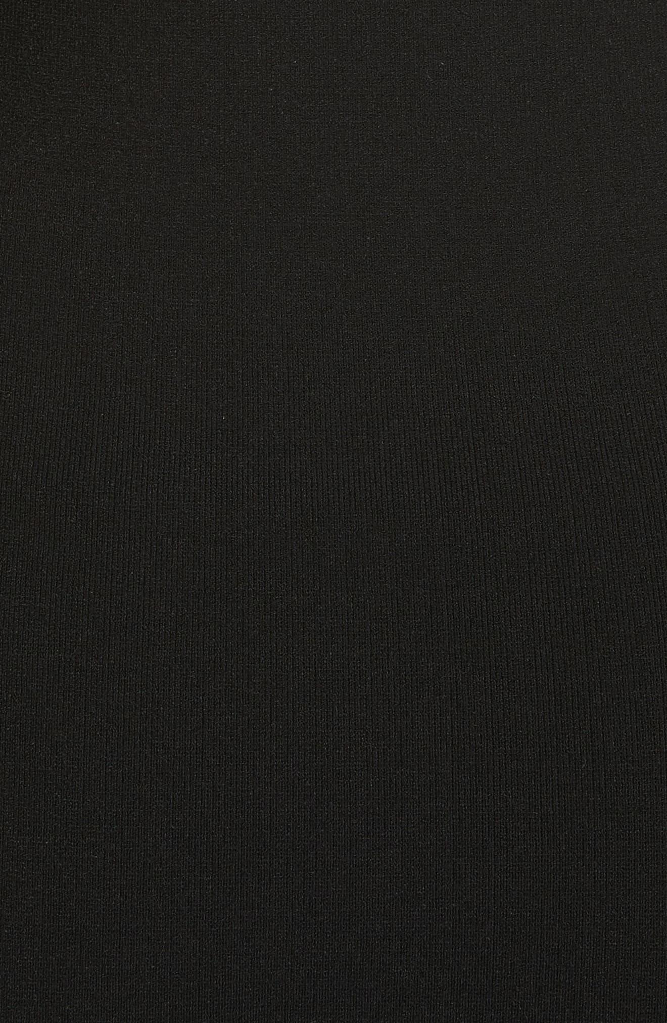 Cold Shoulder Flounce Sheath Dress,                             Alternate thumbnail 5, color,                             Black