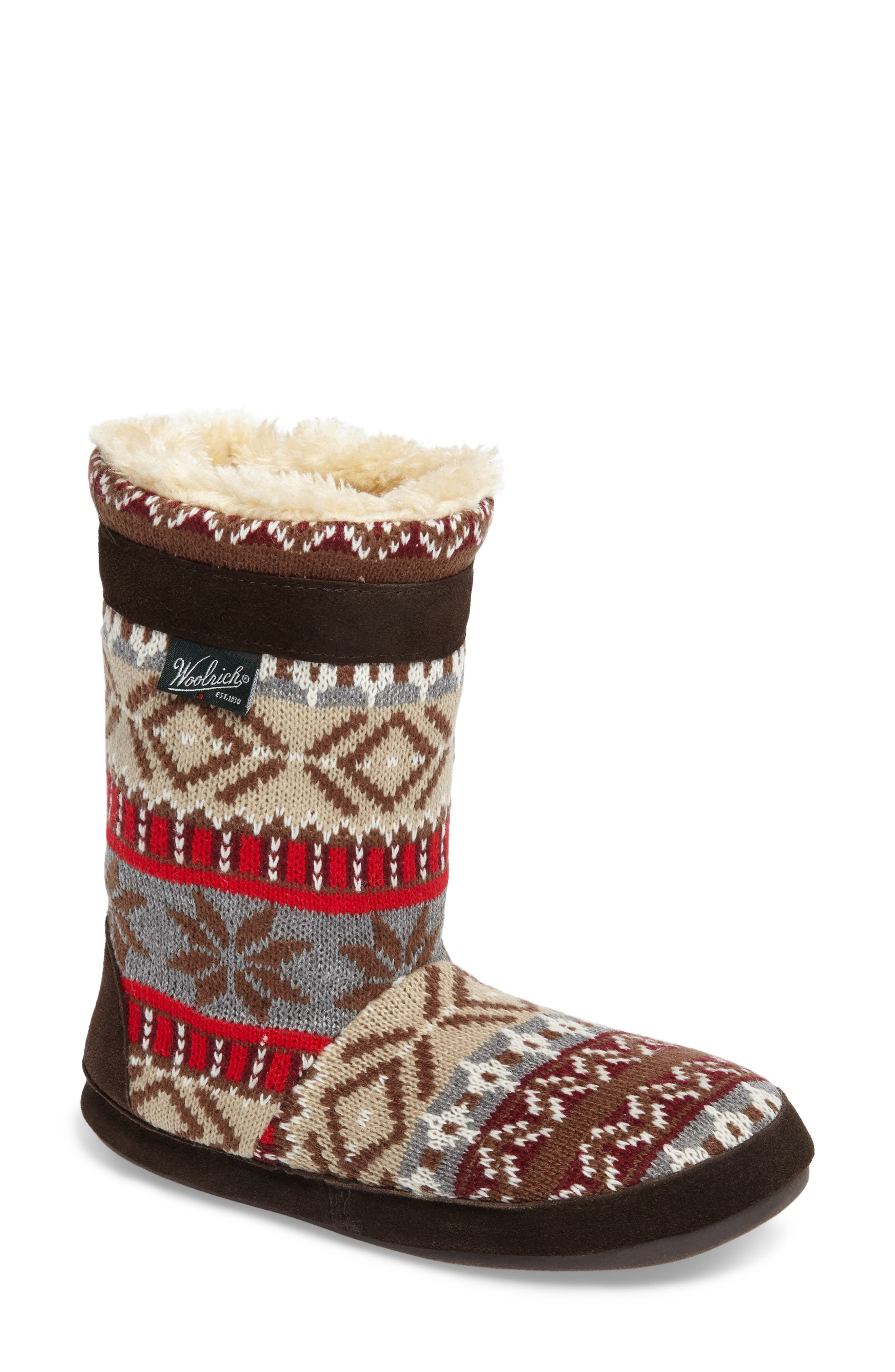 Alternate Image 1 Selected - Woolrich Whitecap Knit Slipper Bootie (Women)