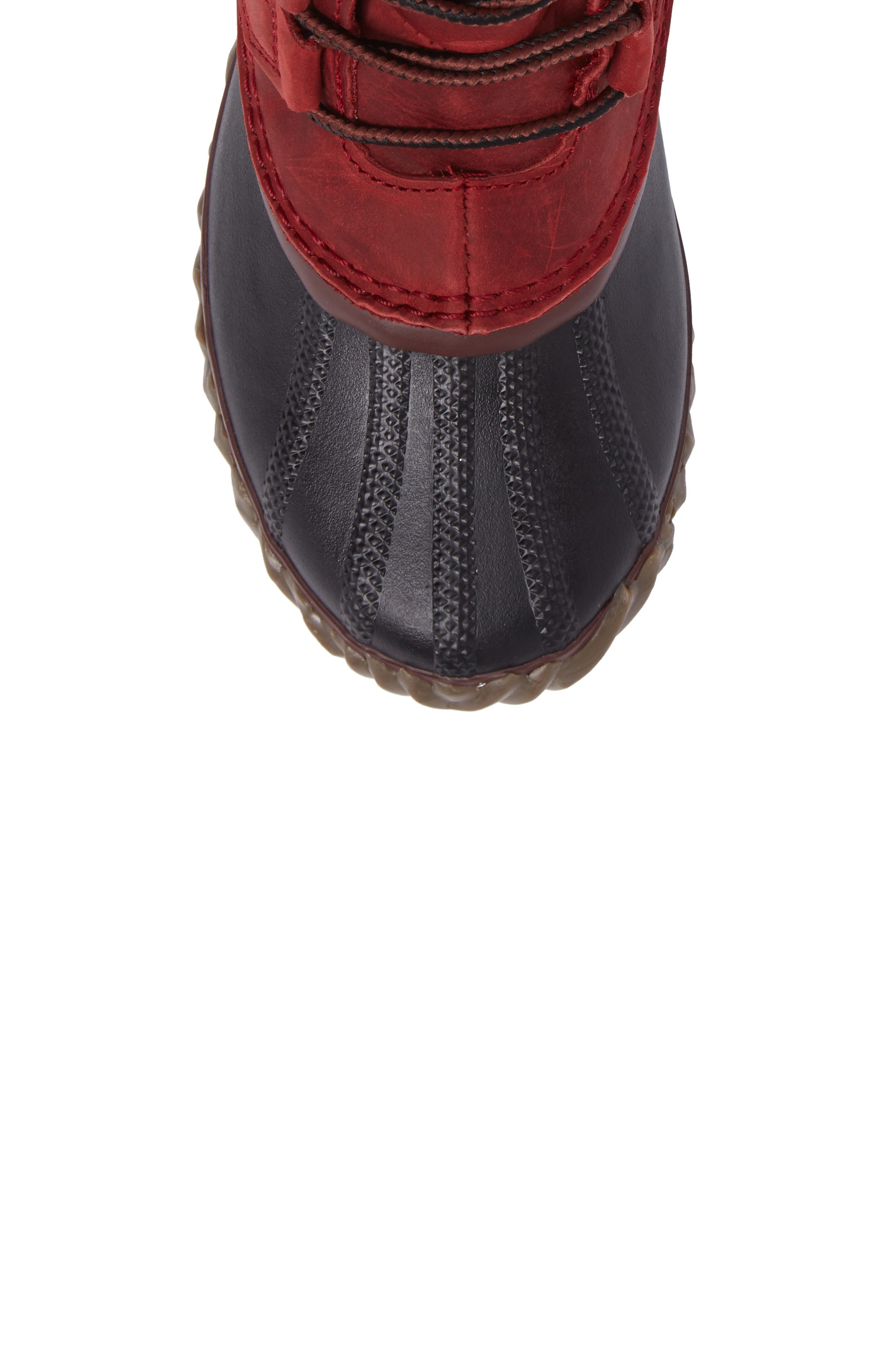 'Out N About' Leather Boot,                             Alternate thumbnail 5, color,                             Red Element