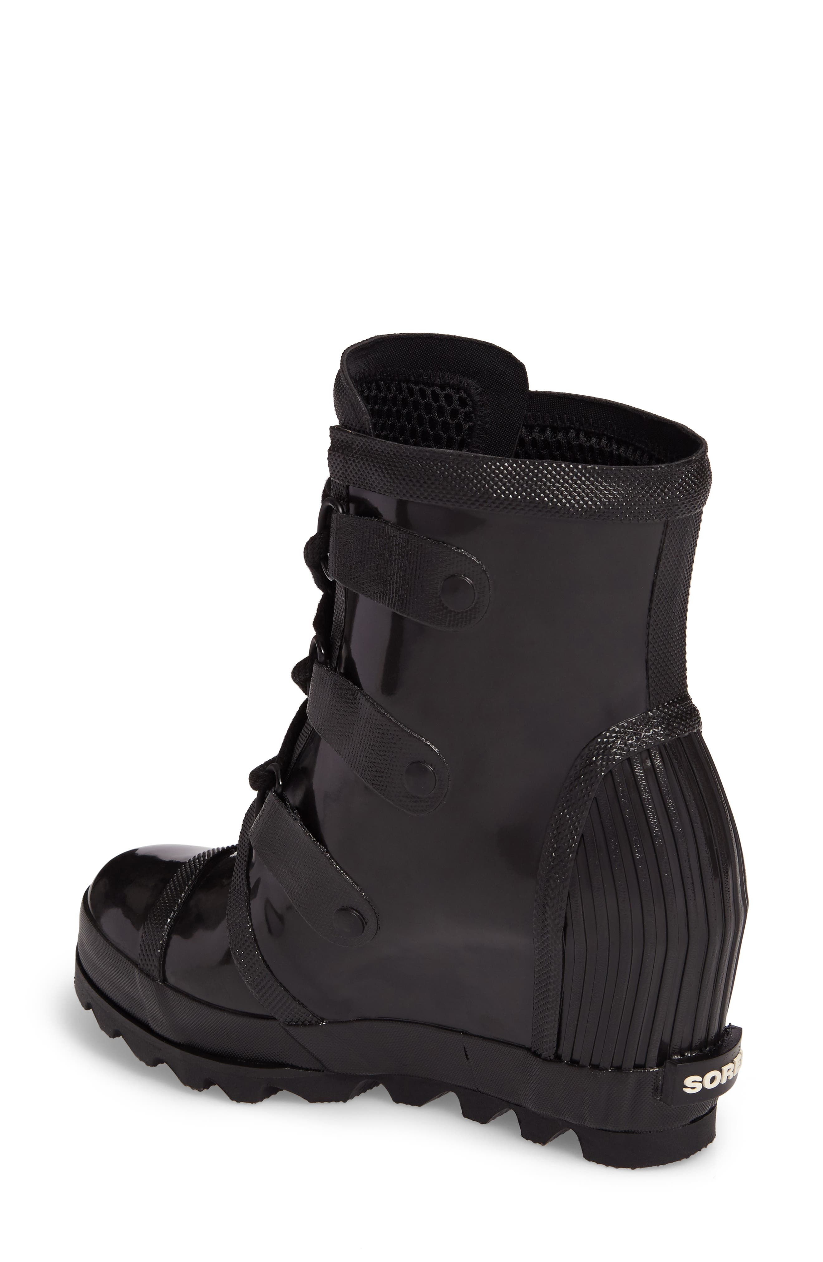 Alternate Image 2  - SOREL Joan Glossy Wedge Rain Boot (Women)