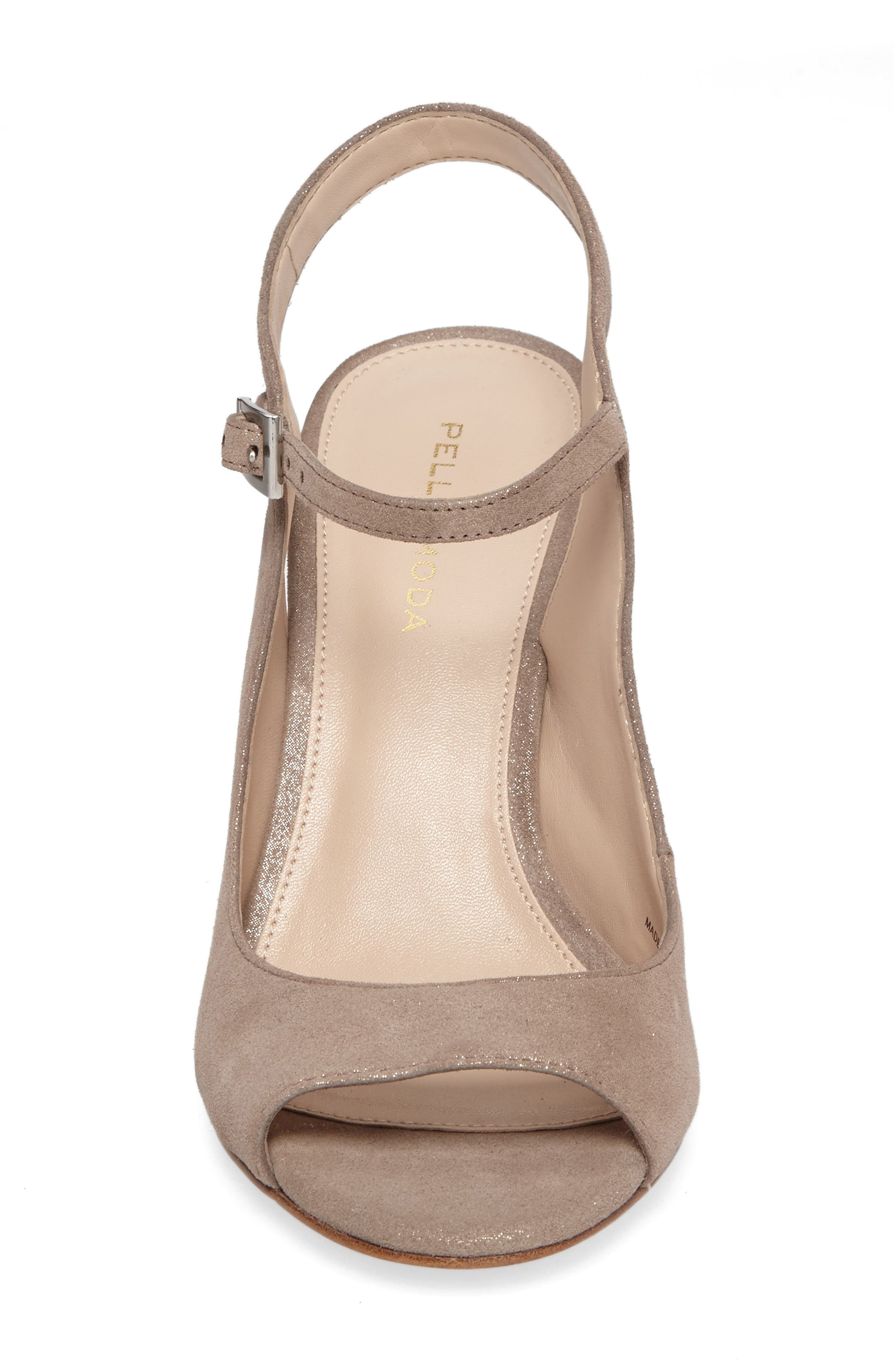 Kinsey Sandal,                             Alternate thumbnail 4, color,                             Taupe Leather