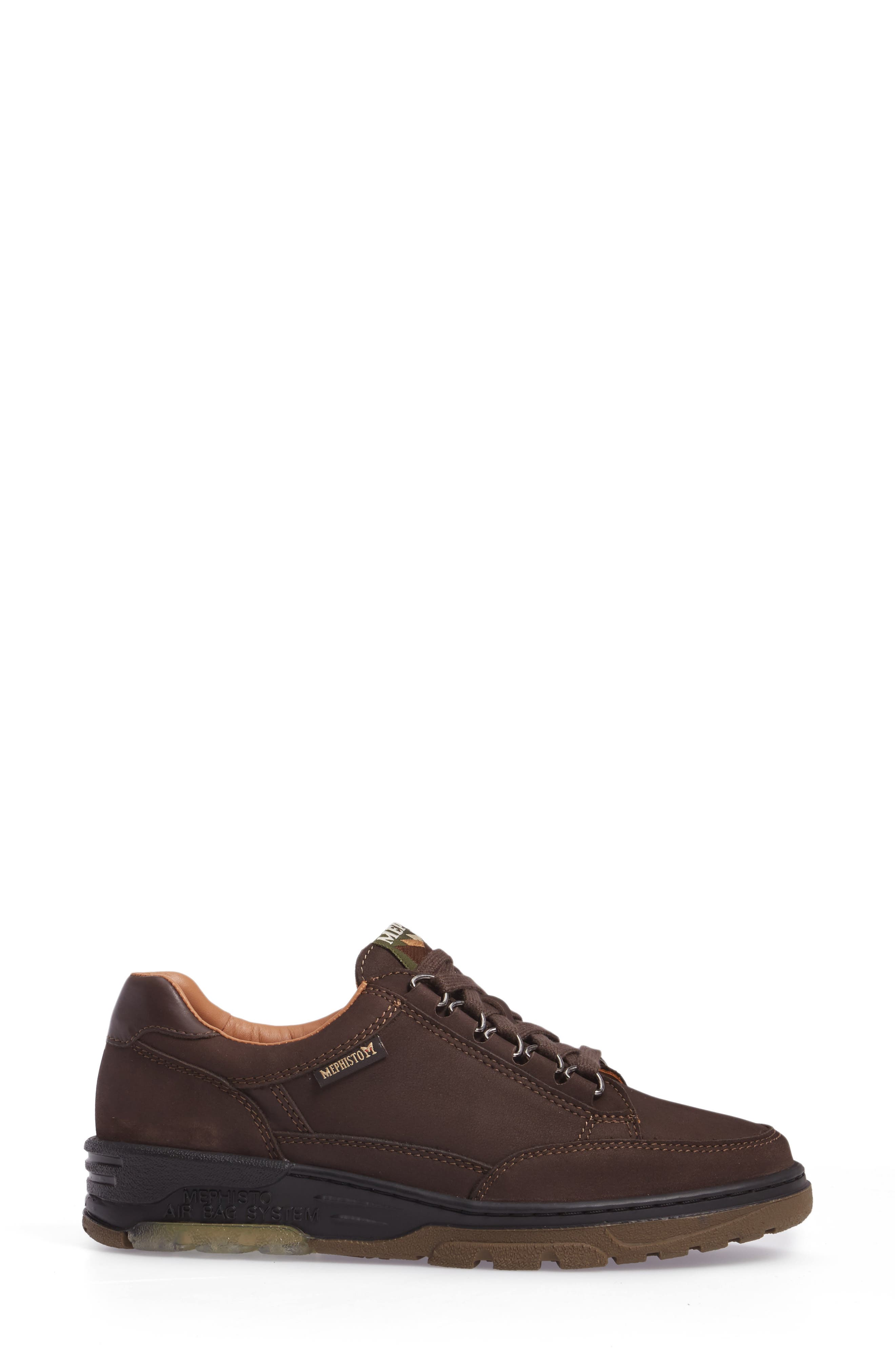 Natasha Sneaker,                             Alternate thumbnail 3, color,                             Dark Brown Leather