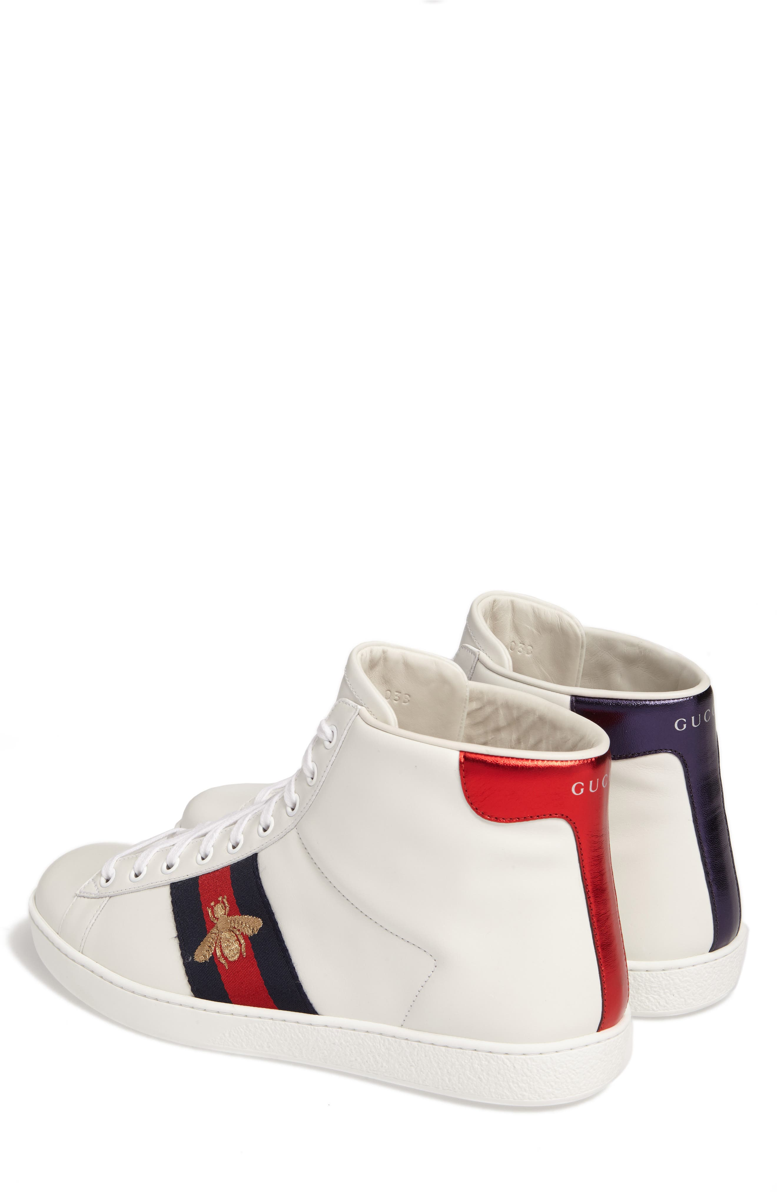 Alternate Image 2  - Gucci New Ace High Bee Sneaker (Men)