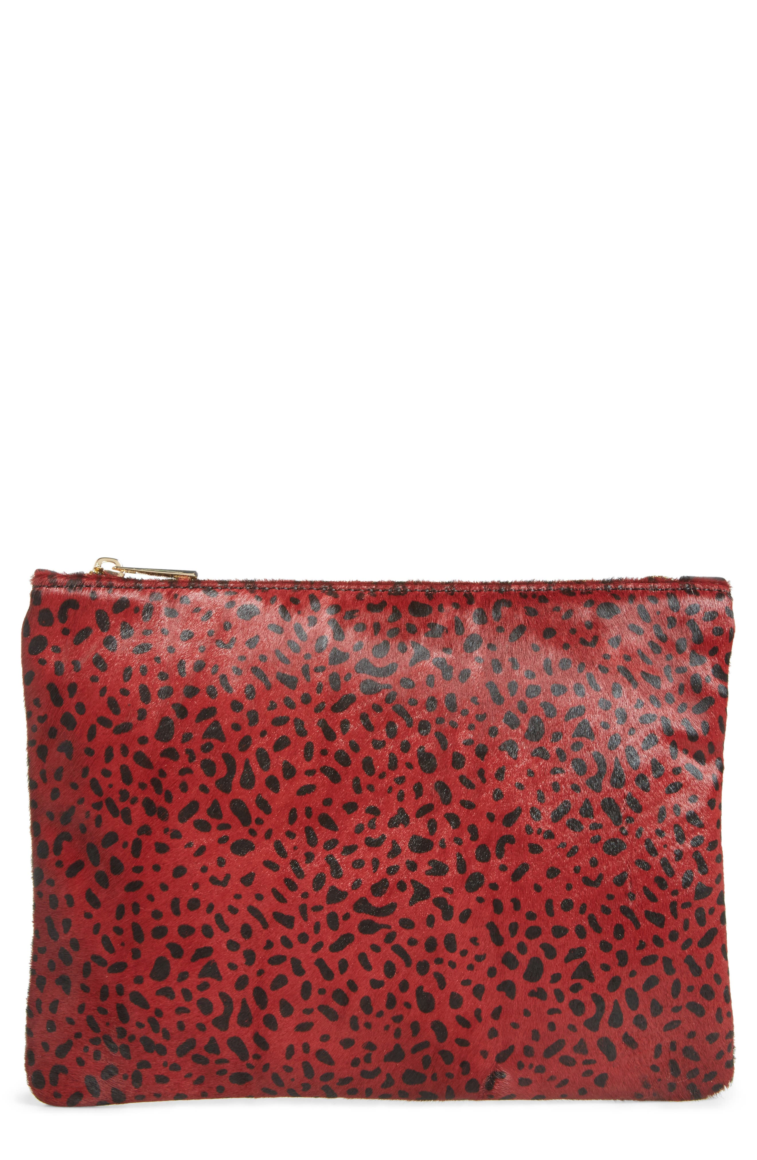 Sole Society 'Dolce' Genuine Calf Hair Clutch