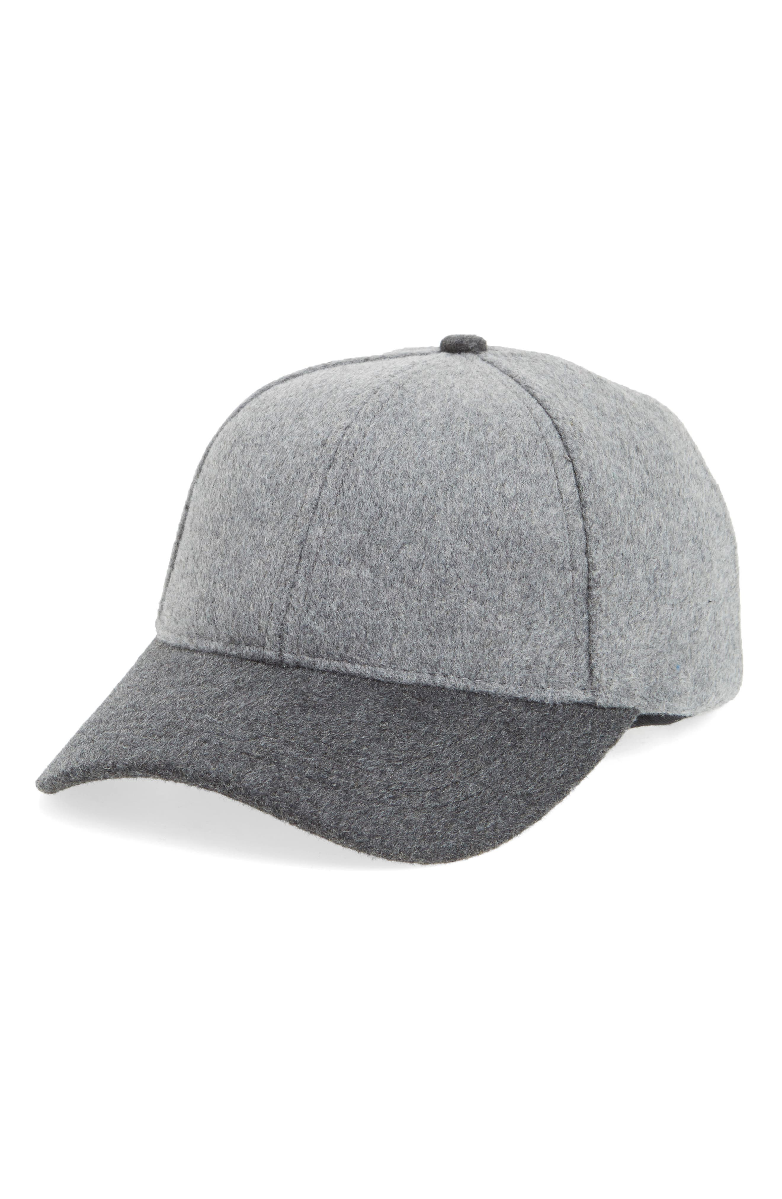 Two-Tone Baseball Cap,                             Main thumbnail 1, color,                             Grey Combo
