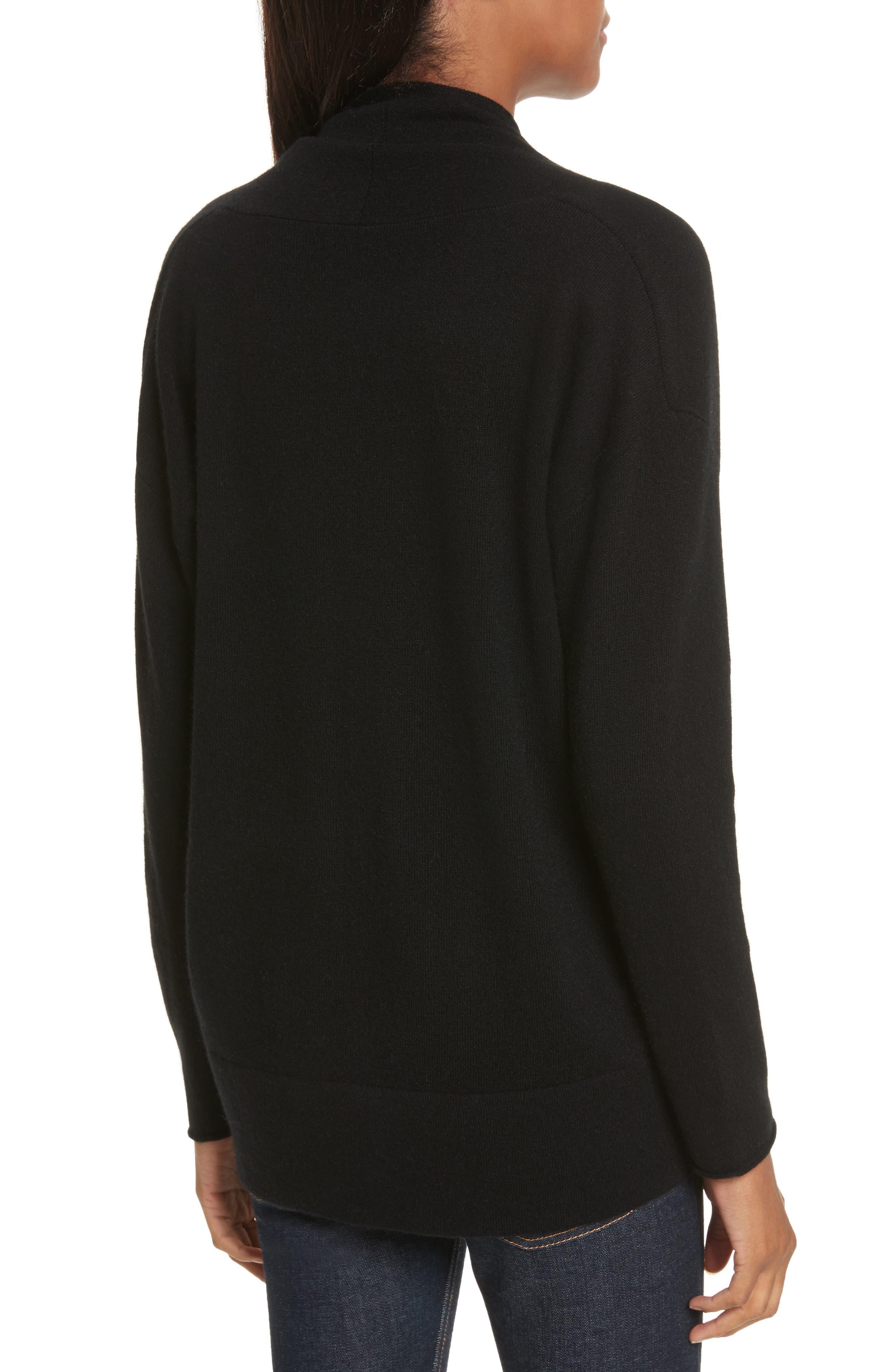 Alternate Image 2  - Allude Merino Wool & Cashmere Surplice Sweater
