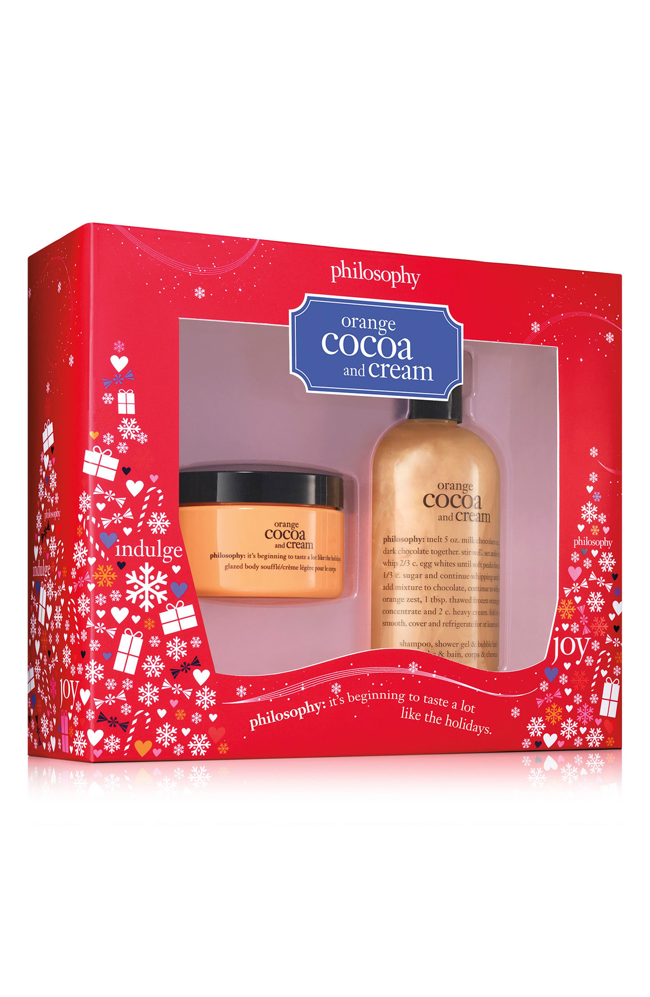 Alternate Image 1 Selected - philosophy orange cocoa and cream duo (Limited Edition)