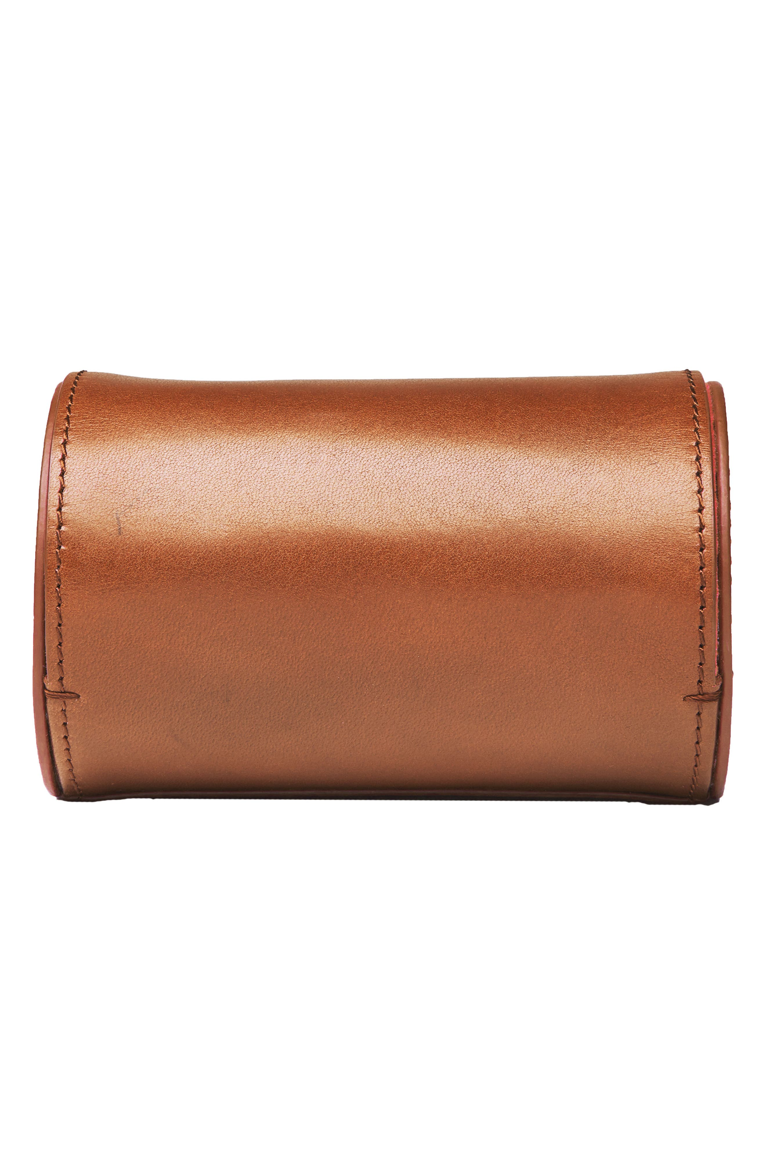 Watch Roll Case,                             Alternate thumbnail 4, color,                             Tan