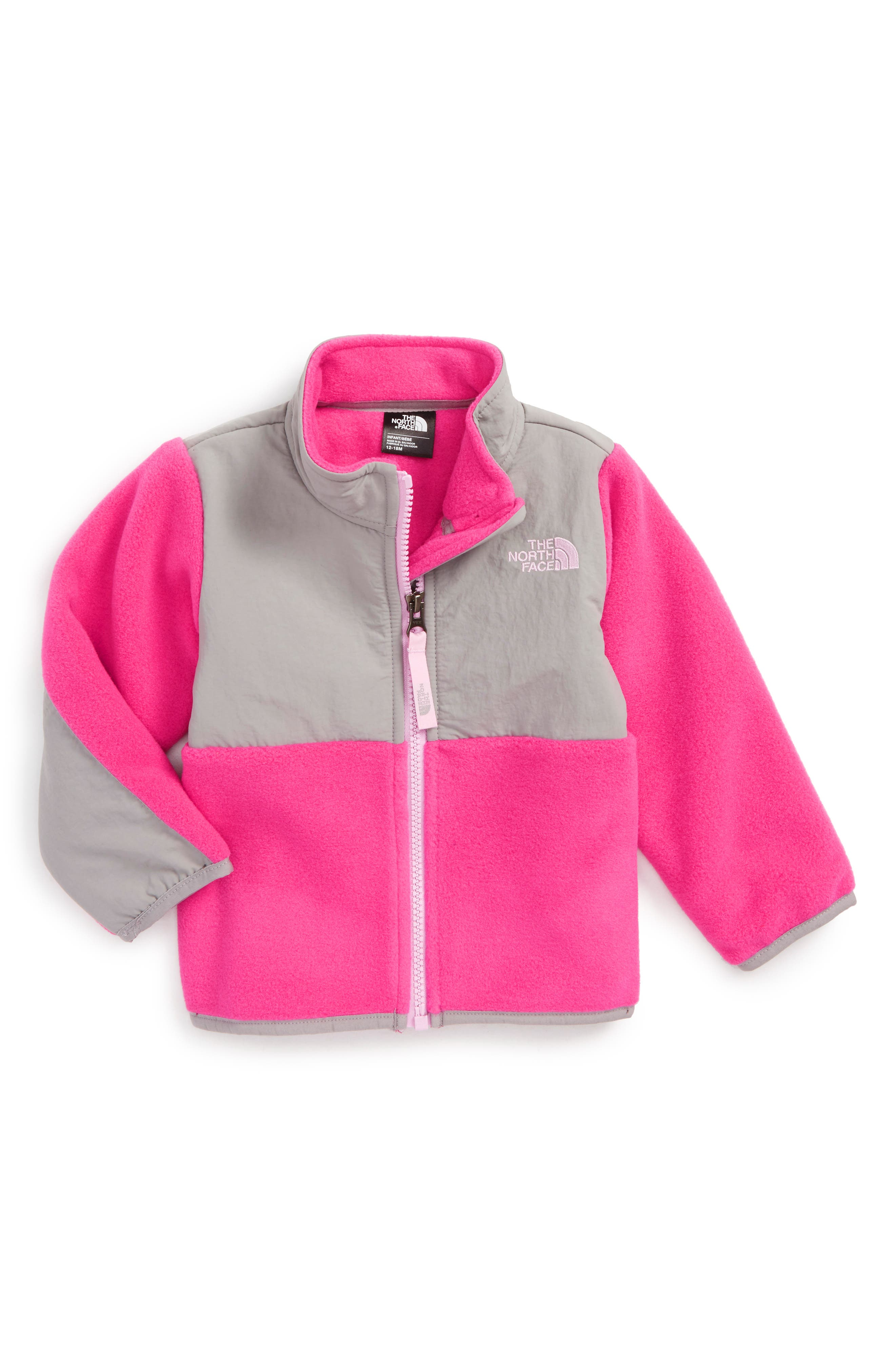Alternate Image 1 Selected - The North Face 'Denali' Recycled Fleece Jacket (Baby Girls)