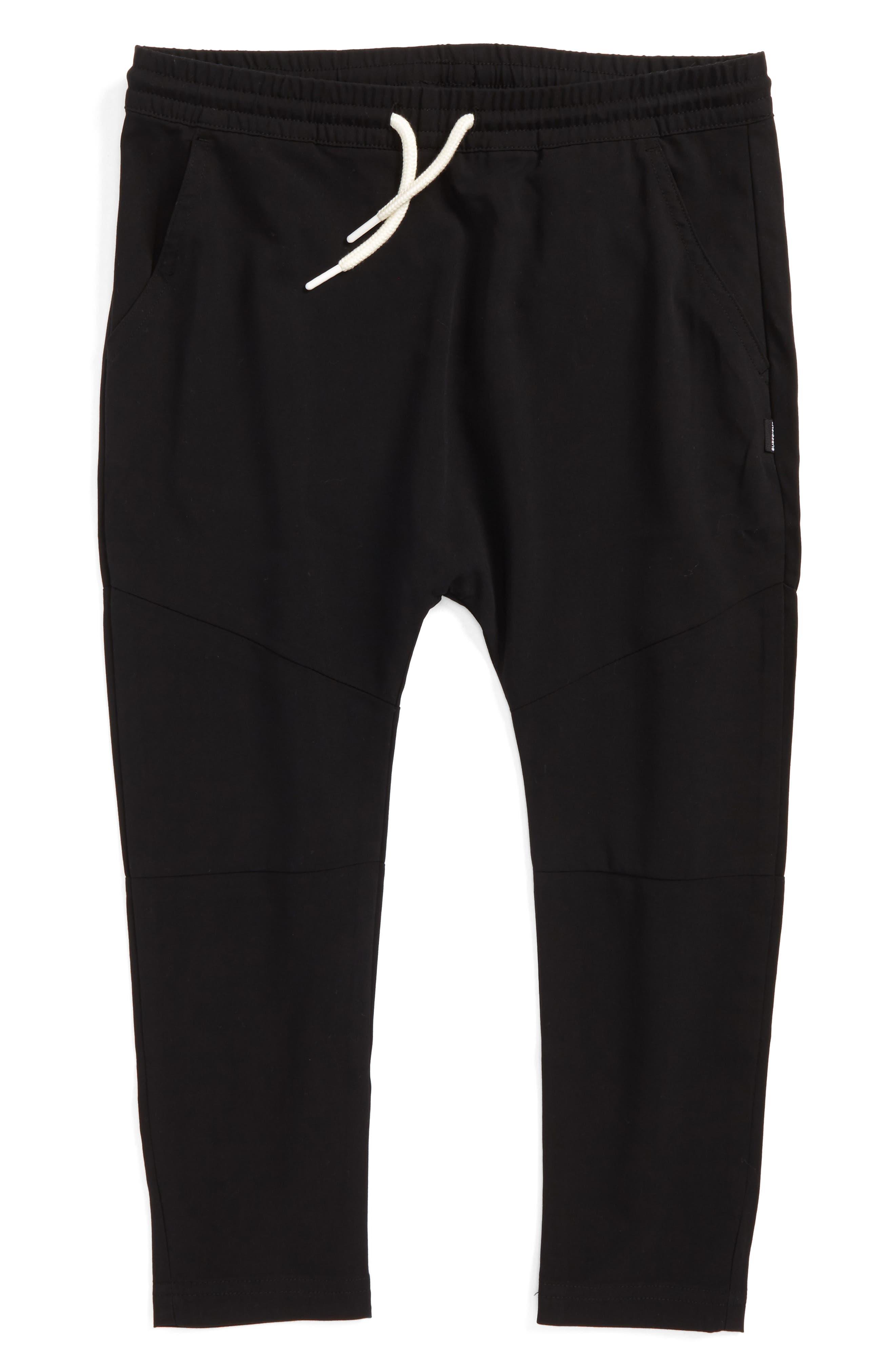 Elliot Woven Jogger Pants,                             Main thumbnail 1, color,                             Black