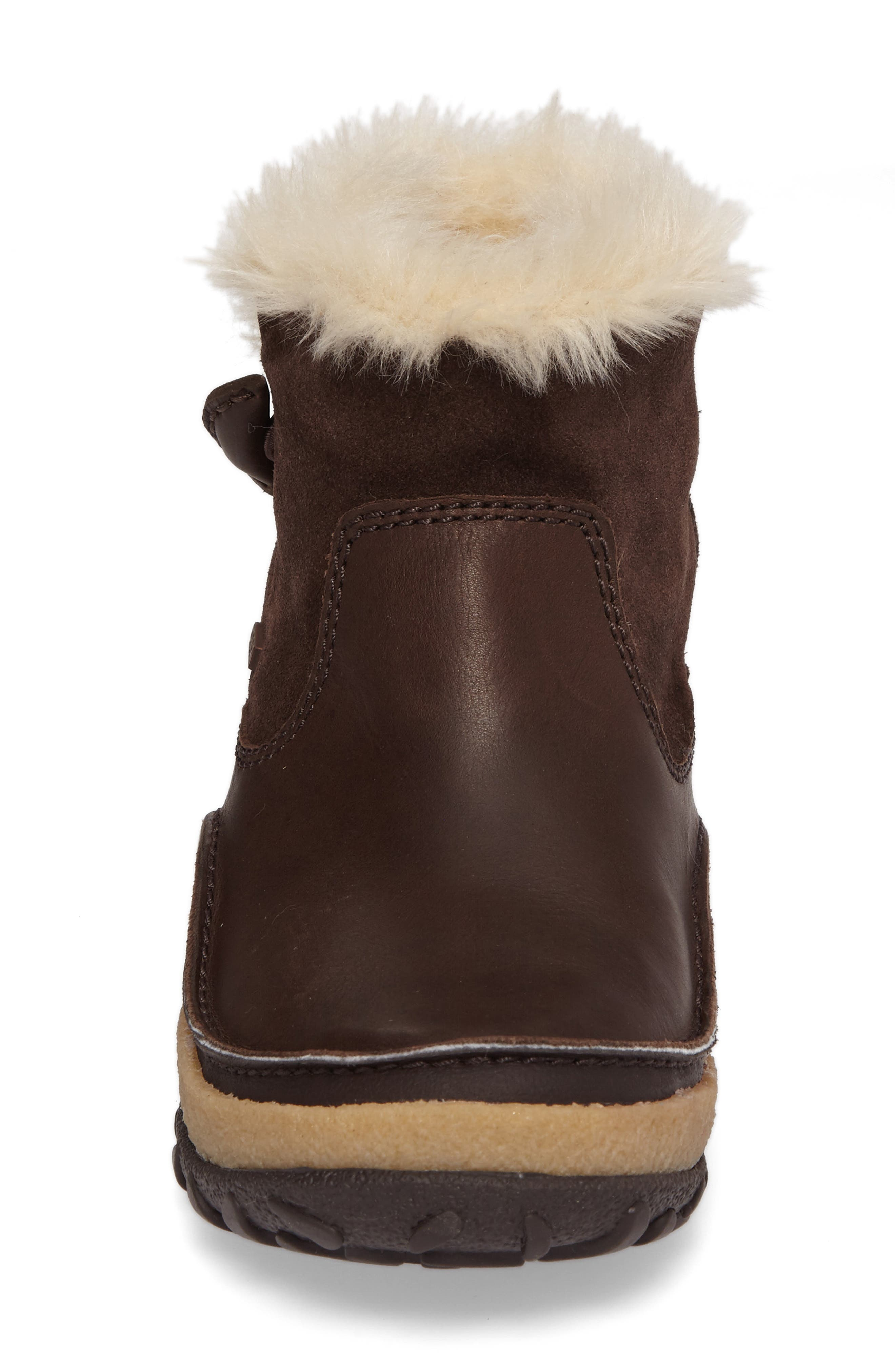 Tremblant Pull-On Polar Waterproof Bootie,                             Alternate thumbnail 4, color,                             Espresso Leather