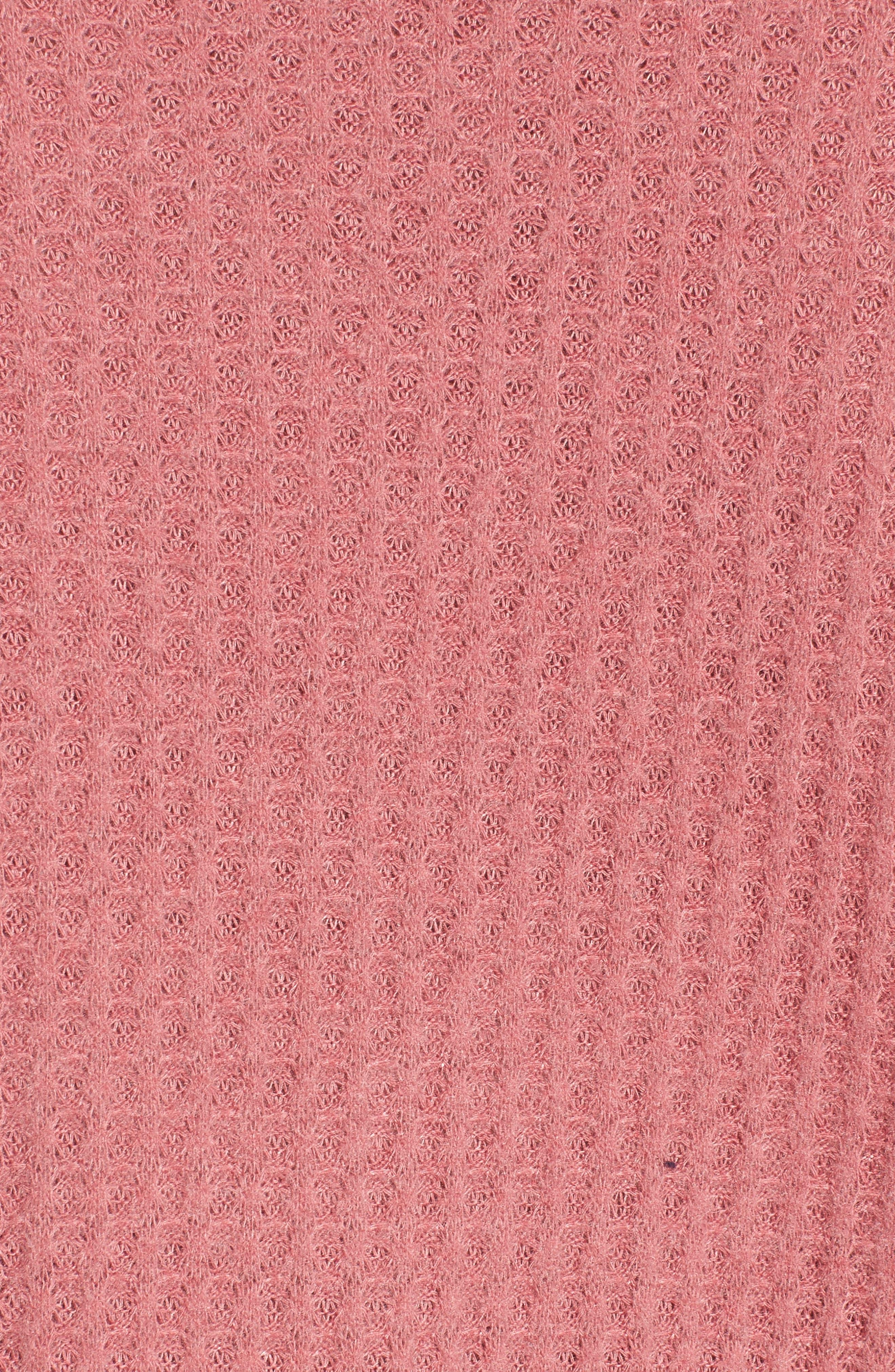 Thermal Crop Top,                             Alternate thumbnail 5, color,                             Velvet Blush