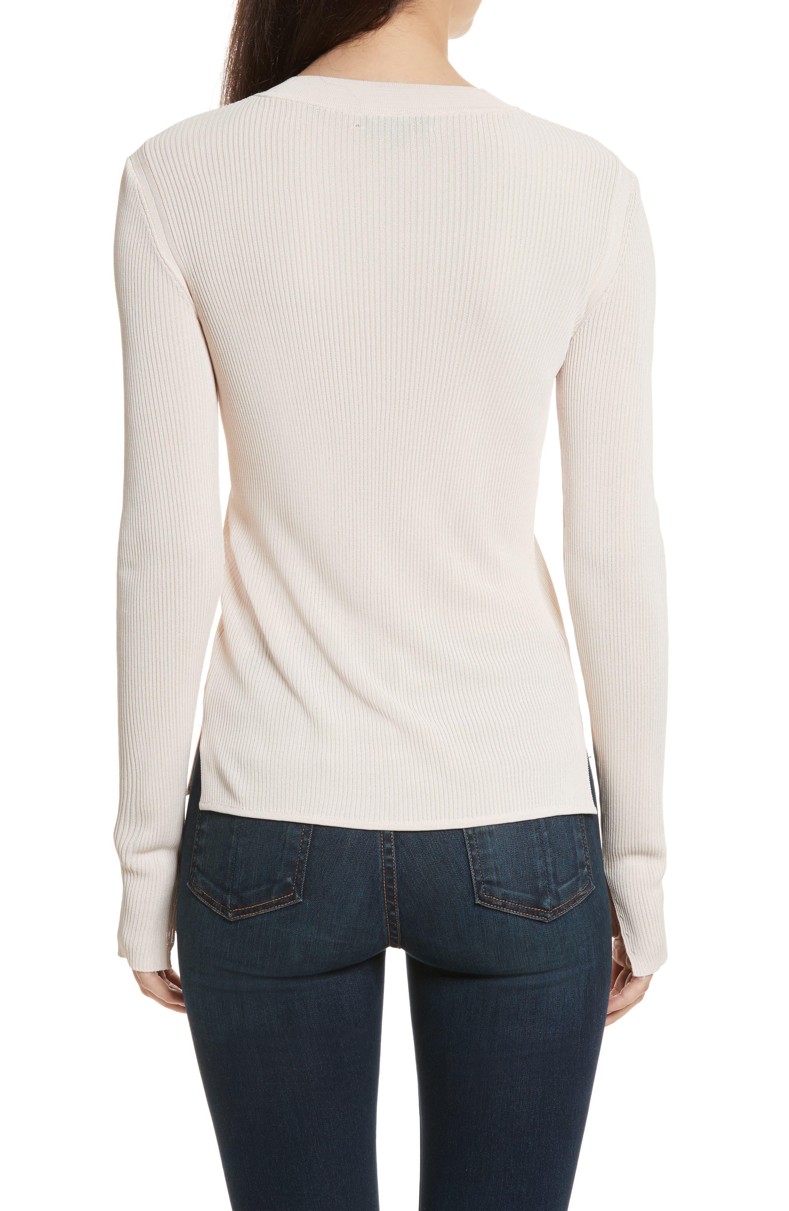 Sylvia Split Cuff Sweater,                             Alternate thumbnail 2, color,                             Pink