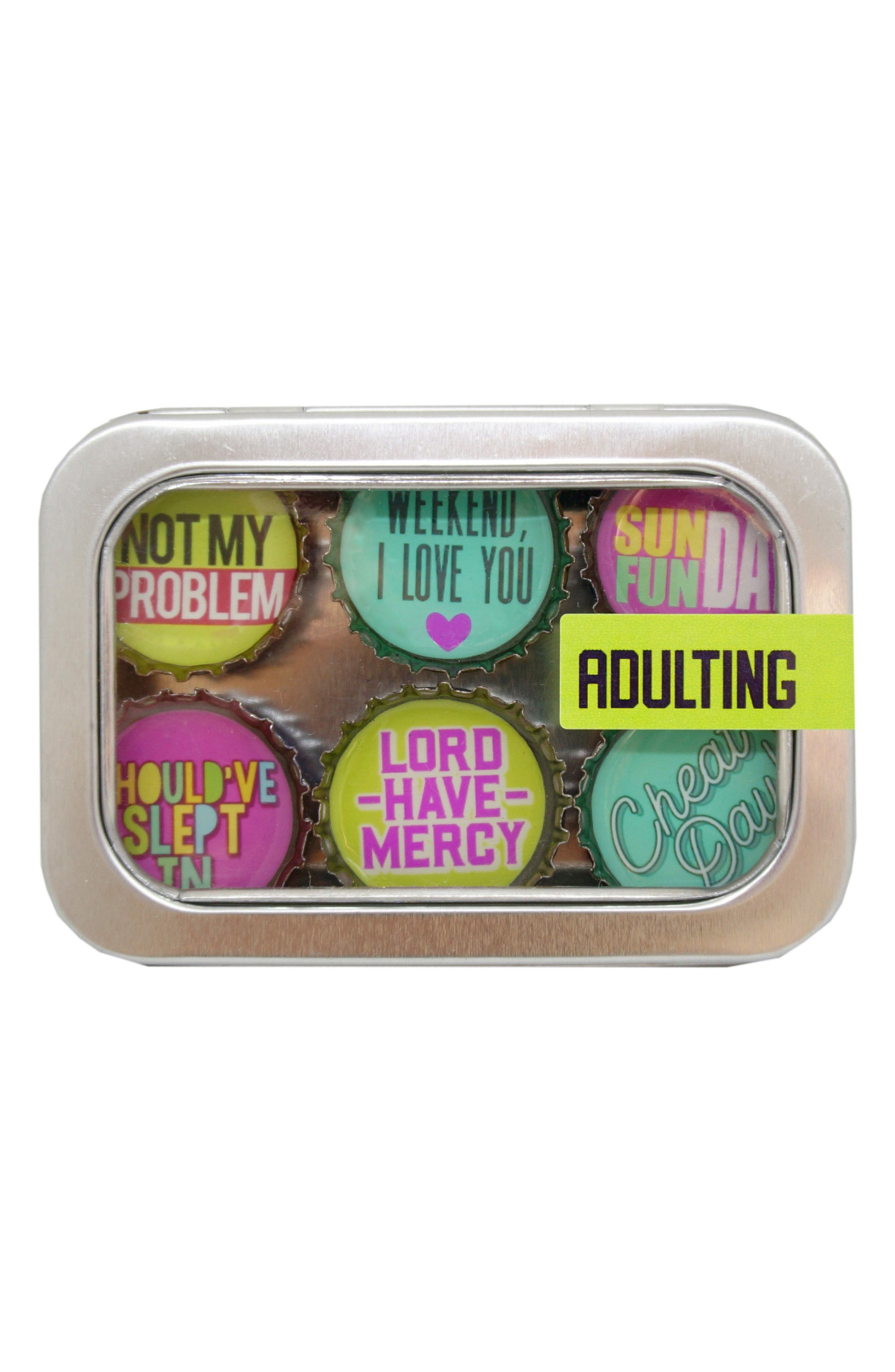 kate grenier Adulting 6-Pack Magnets