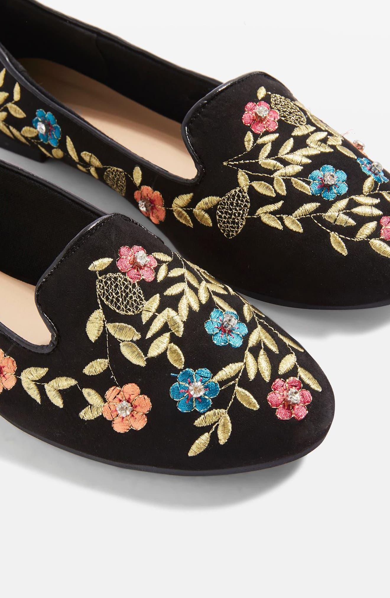 Alternate Image 9  - Topshop Sweetie Embroidered Loafer (Women)