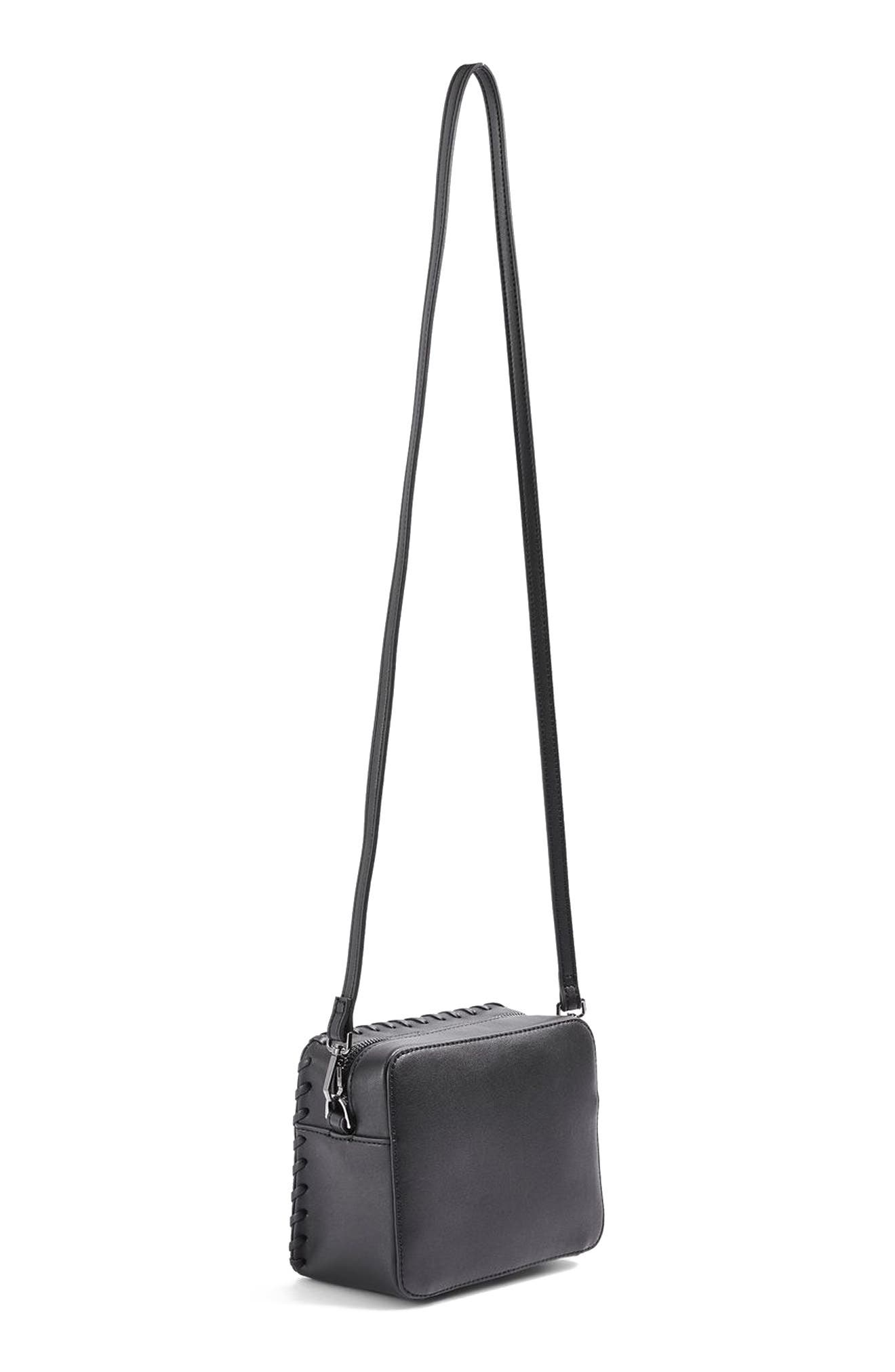 Alternate Image 6  - Topshop Rogue Whipstitch Faux Leather Crossbody Bag