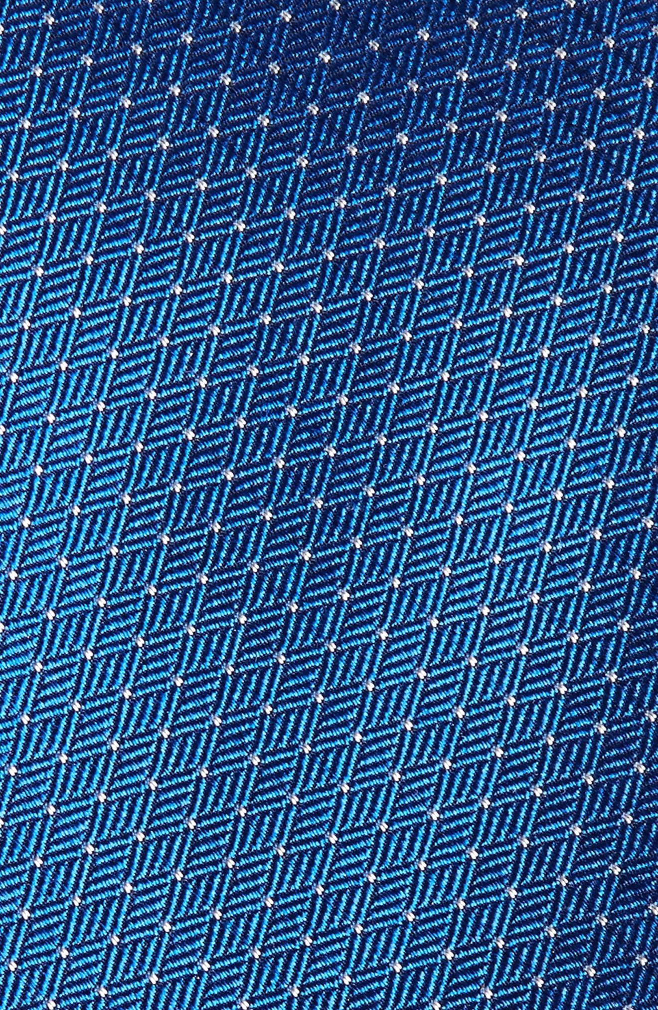 Parquet Pin Dot Silk Tie,                             Alternate thumbnail 2, color,                             Royal